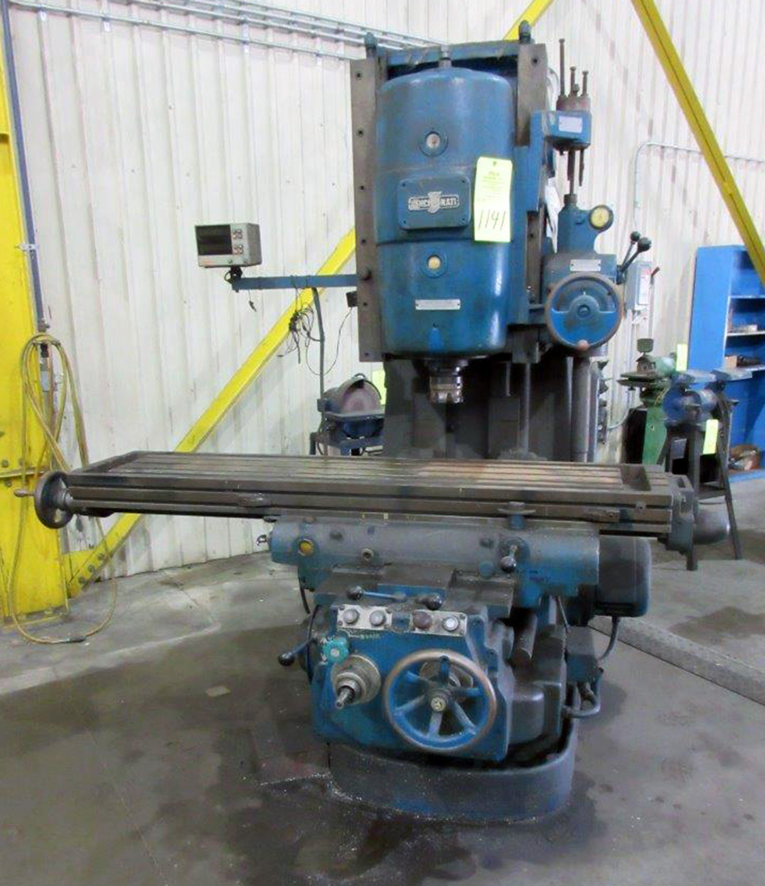 "USED, 10"" X 60"" CINCINNATI NO. 3 DIAL TYPE VERTICAL MILLING MACHINE"