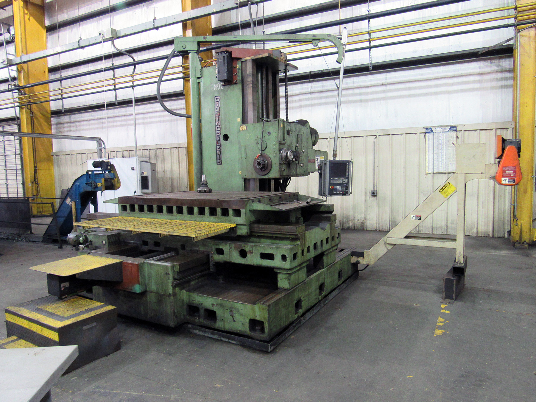 "USED, 5"" GIDDINGS & LEWIS MODEL 65-H5 CNC TABLE TYPE HORIZONTAL BORING MILL"
