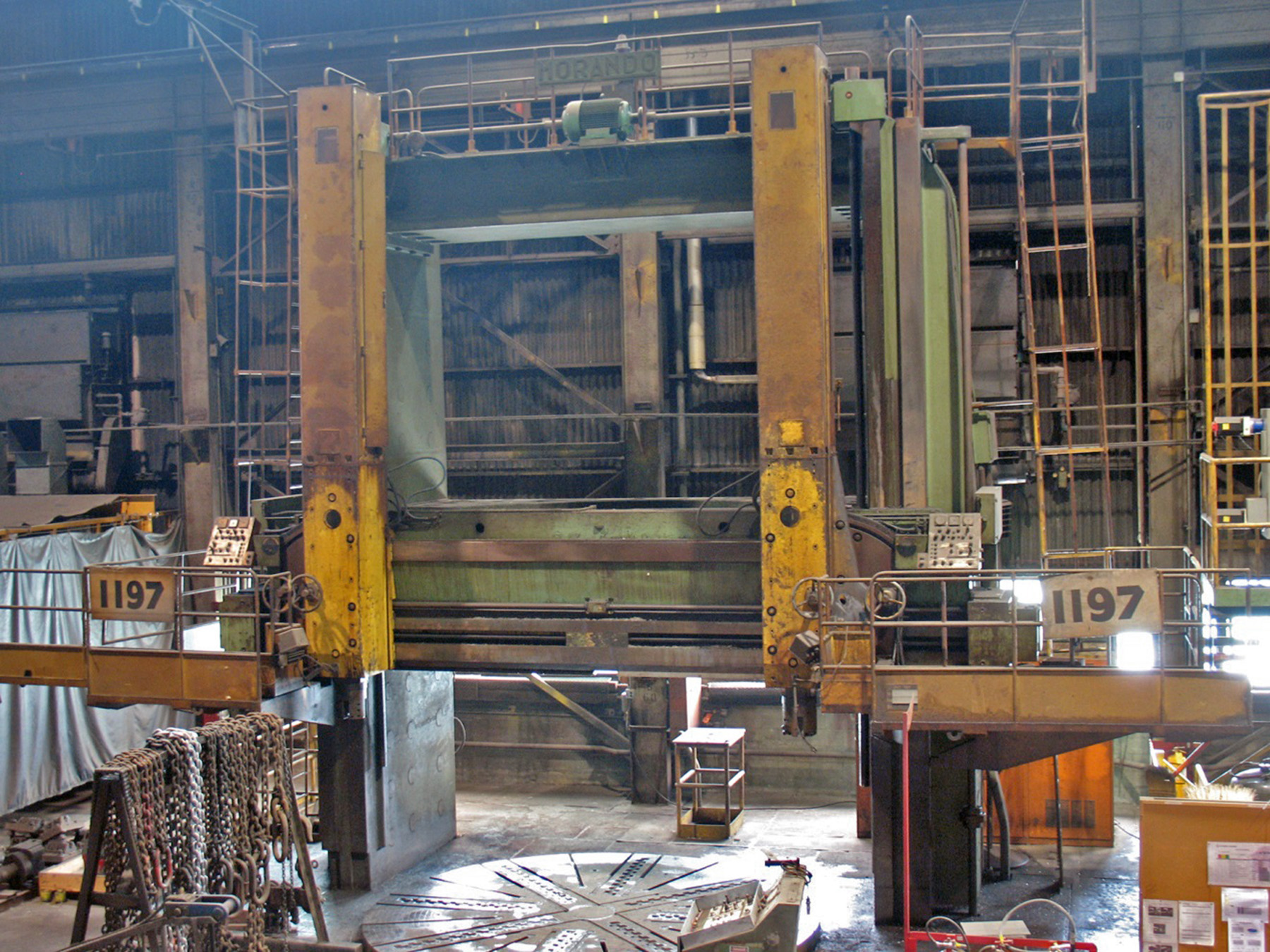 "USED, 168"" MORANDO VERTICAL BORING MILL"