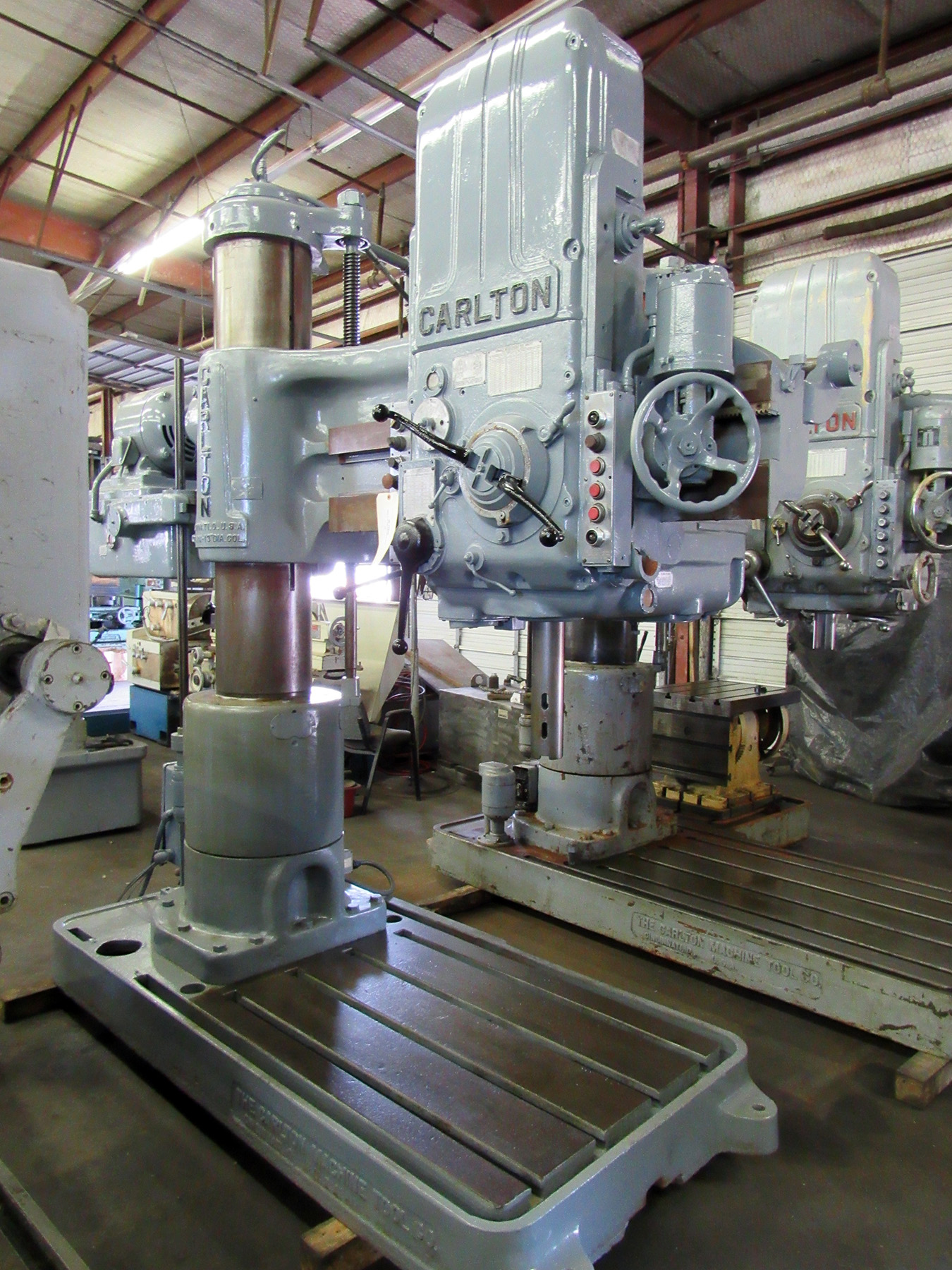 "USED, 4' 13"" CARLTON RADIAL ARM DRILL"