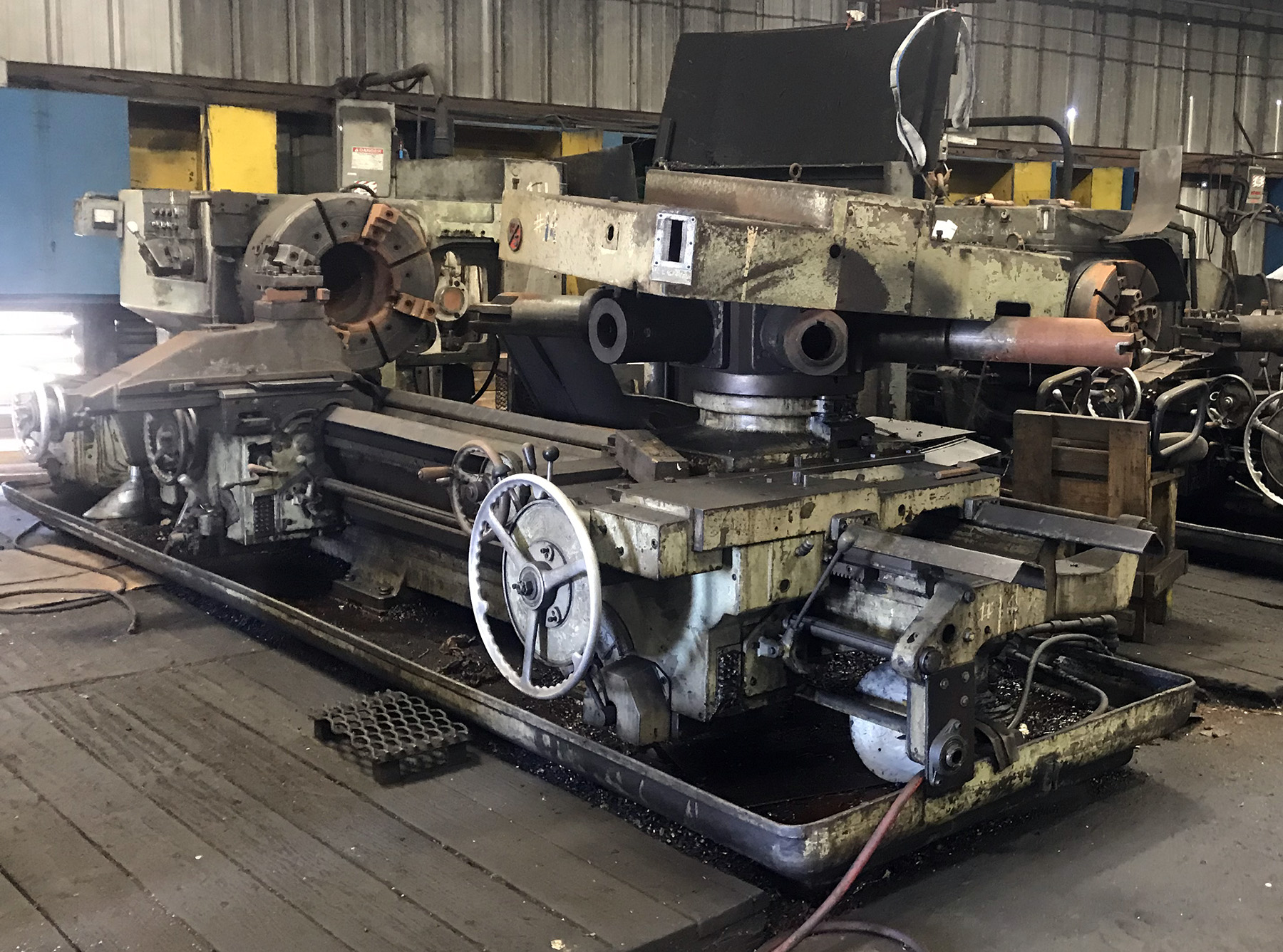 USED, 5A WARNER & SWASEY MODEL M-3870 SQUARE HEAD SADDLE TYPE TURRET LATHE WITH CROSS SLIDING REAR TURRET