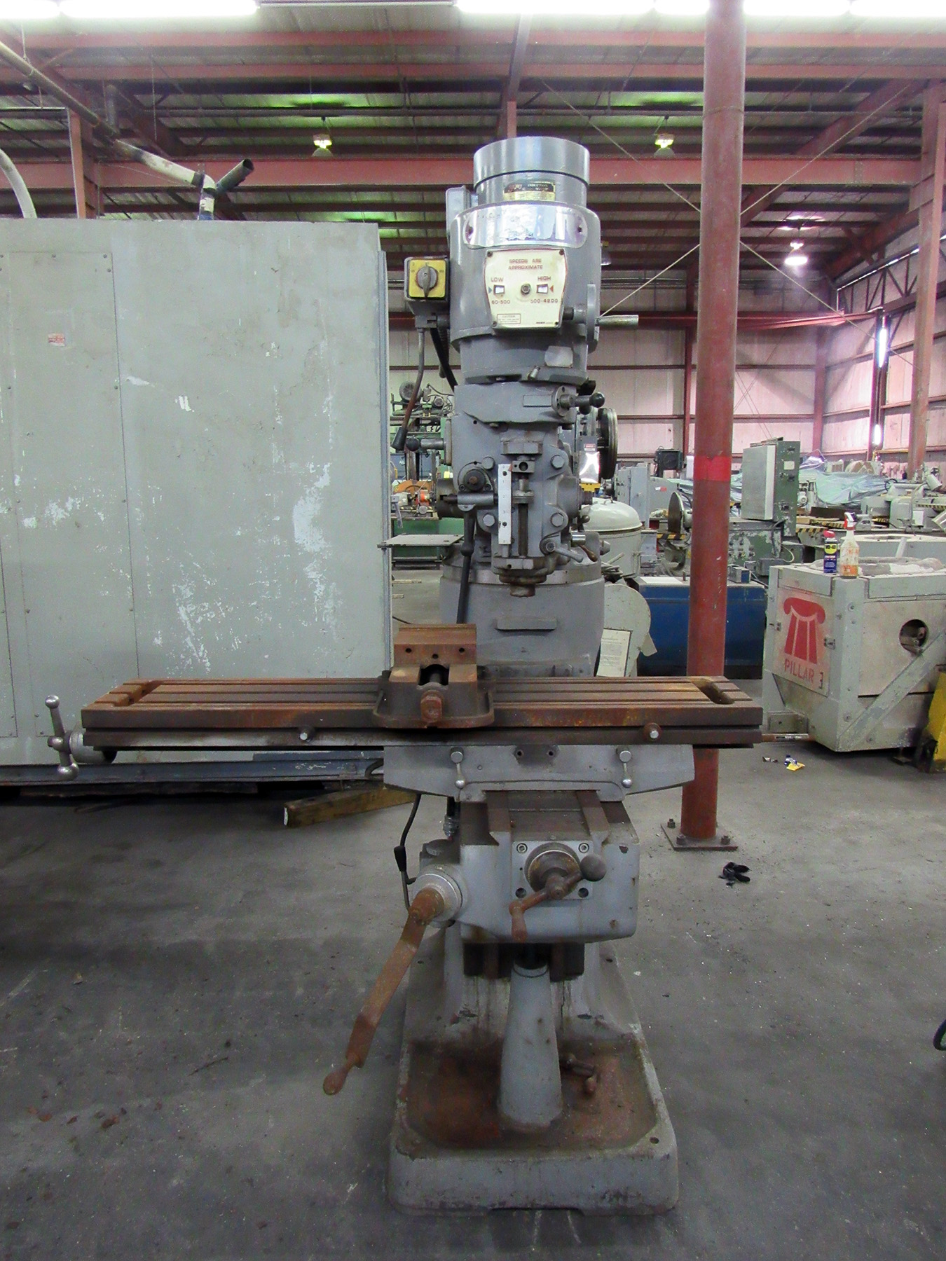 "USED, 10"" X 49"" ACER VERTICAL MILLING MACHINE"