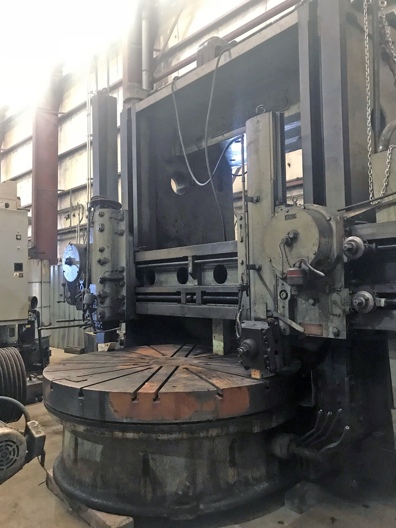 "USED, 96"" BETTS DOUBLE COLUMN VERTICAL BORING MILL"