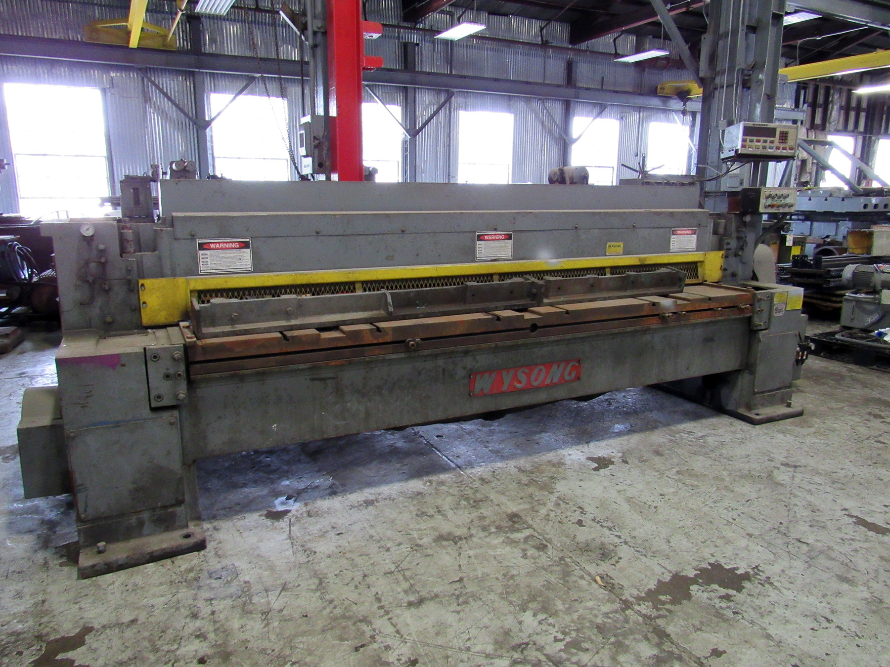 USED, WYSONG MODEL 1025 POWER SQUARING SHEAR