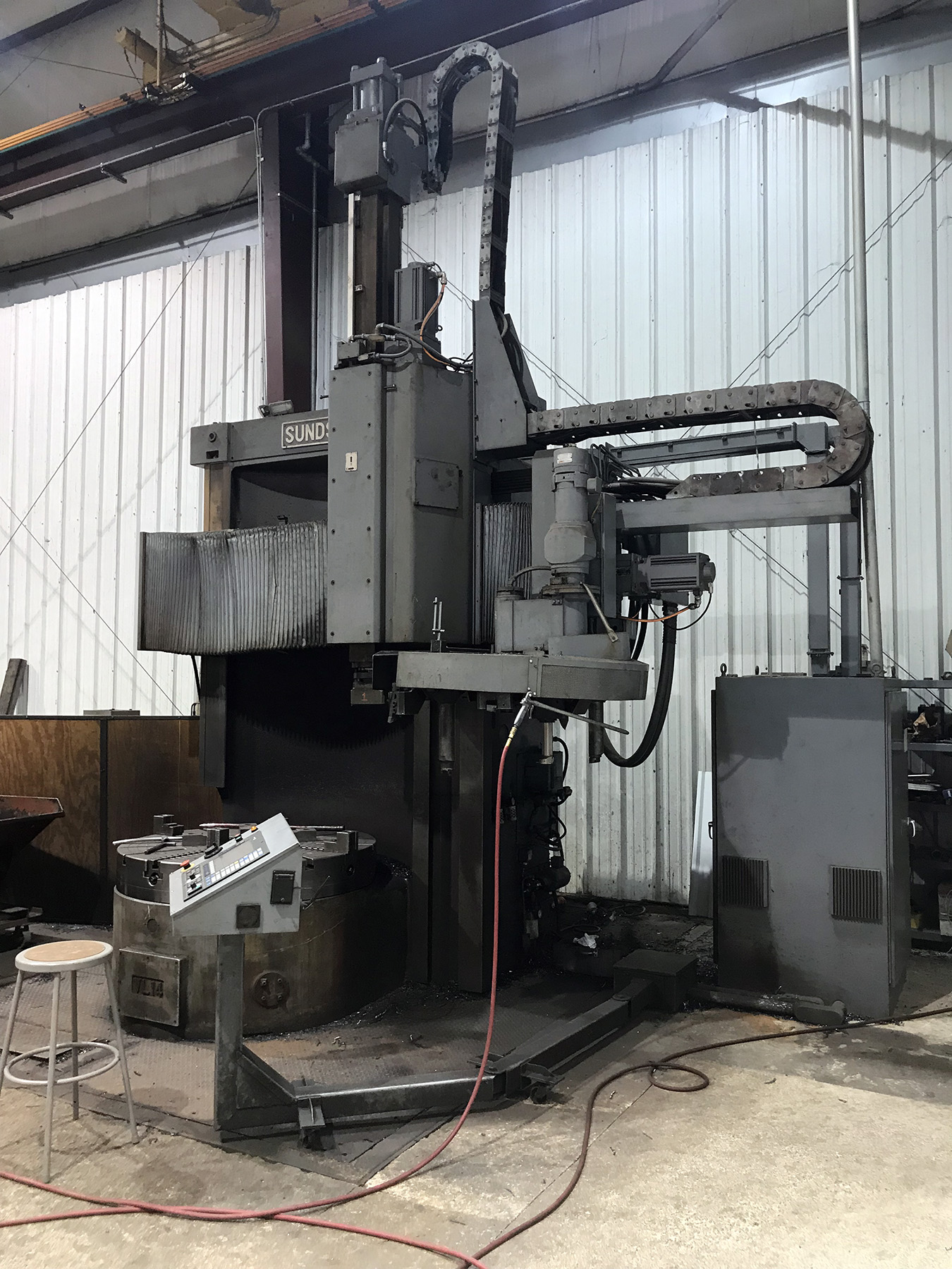 "USED, 57"" SUNDSTRAND/MORANDO HIGH COLUMN CNC VERTICAL BORING MILL"