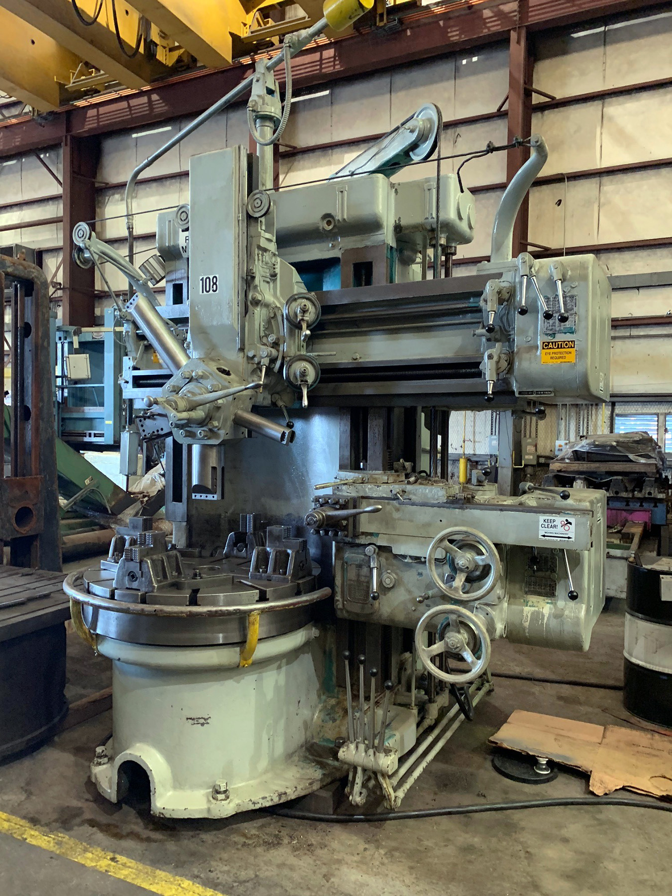 "USED, 42"" KING VERTICAL TURRET LATHE"