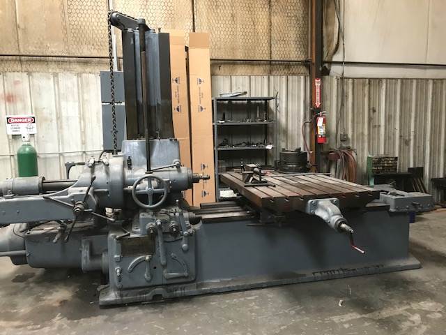 "USED, 4"" LUCAS MODEL 32 PRECISION TABLE TYPE HORIZONTAL BORING MILL"
