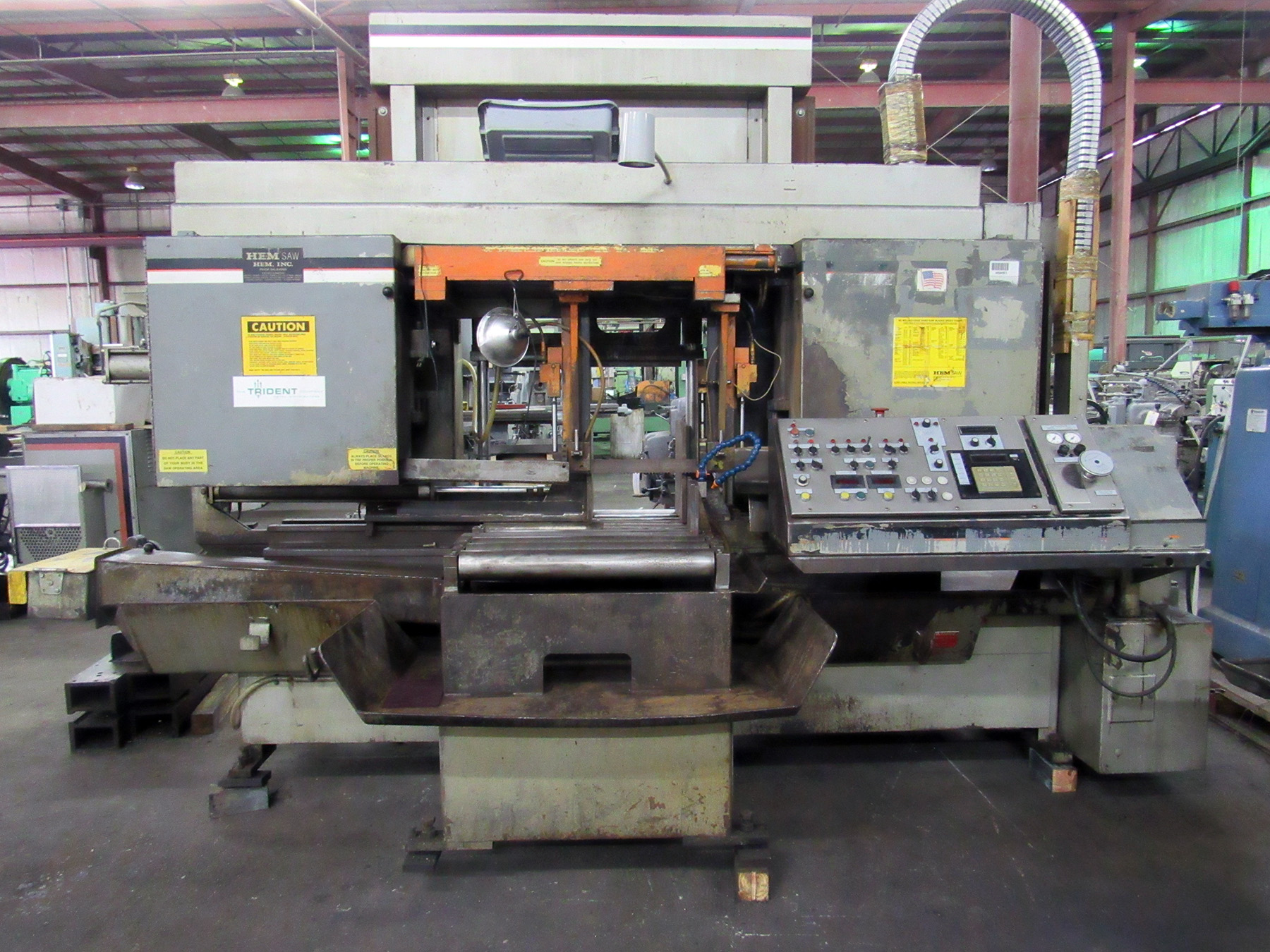 USED, HEM MODEL H160A-DC AUTOMATIC HORIZONTAL BANDSAW