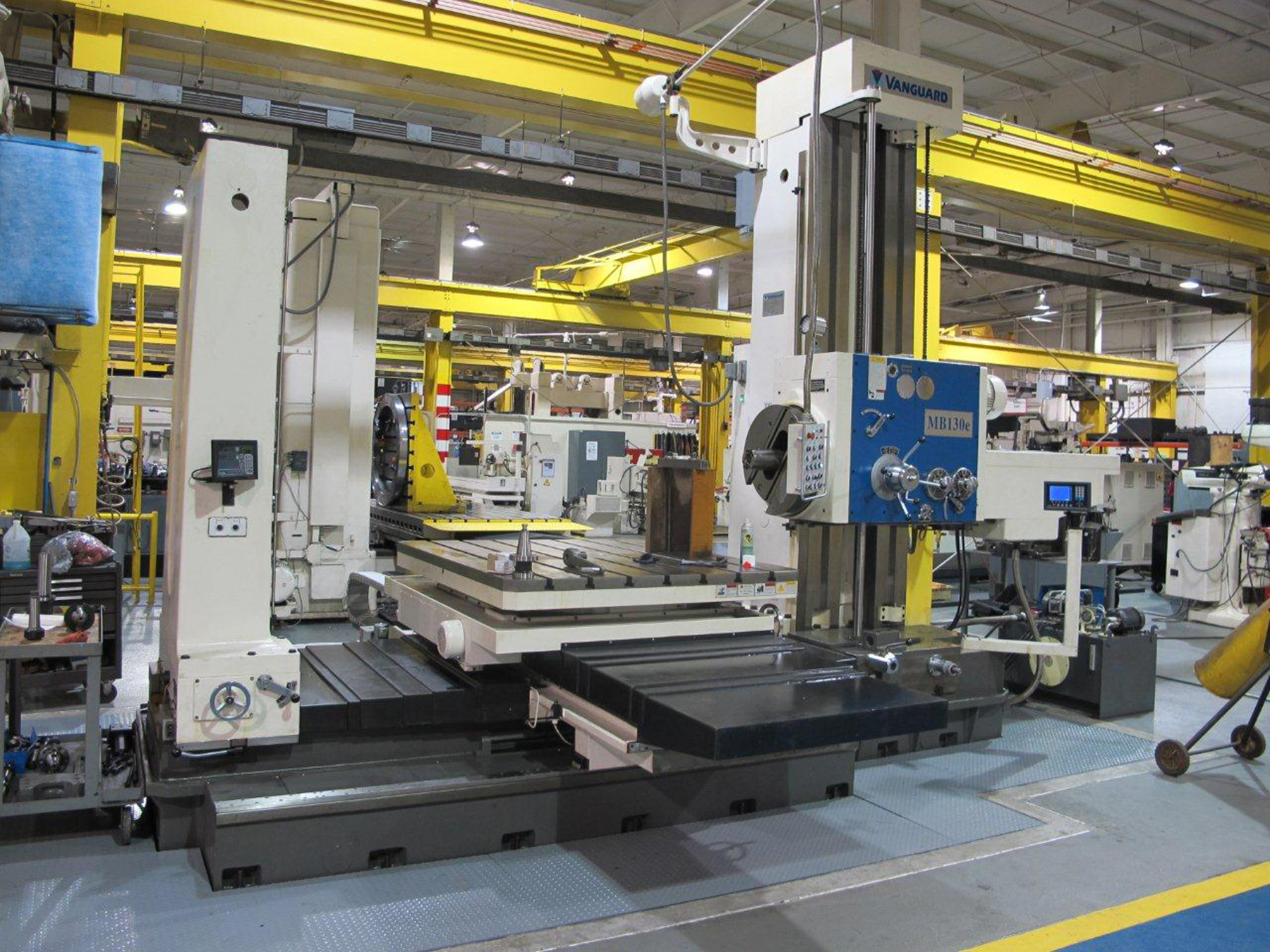 "NEW, 5"" KMT MODEL MB130e HORIZONTAL BORING MILL"