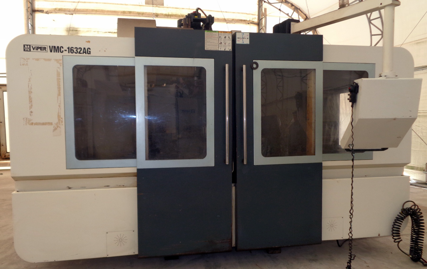 USED, MIGHTY VIPER MODEL VMC-1632AG CNC VERTICAL MACHINING CENTER