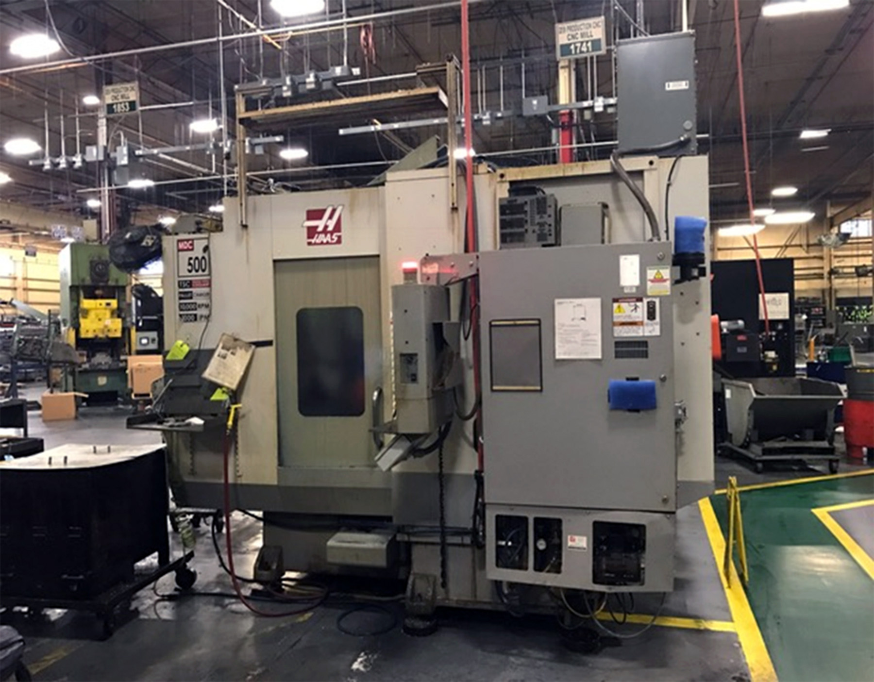 USED, HAAS MDC 500 CNC VERTICAL MILL DRILL CENTER
