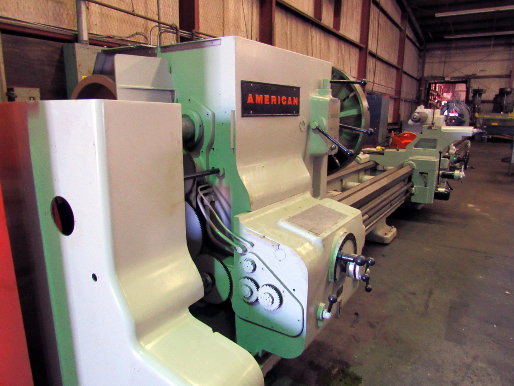 "USED, 49"" X 372"" AMERICAN HEAVY DUTY ENGINE LATHE"