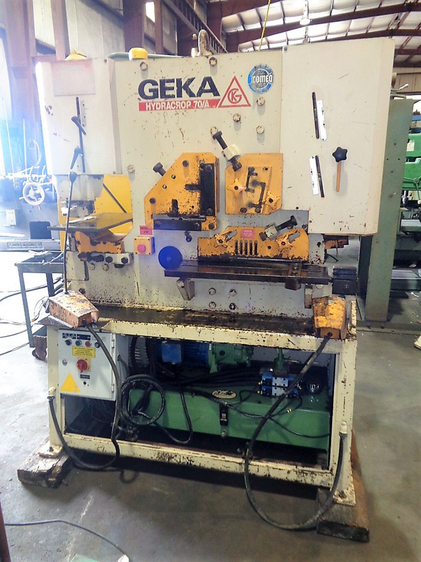 USED, 70 TON GEKA-HYDRACROP MODEL HYD-70 IRONWORKER
