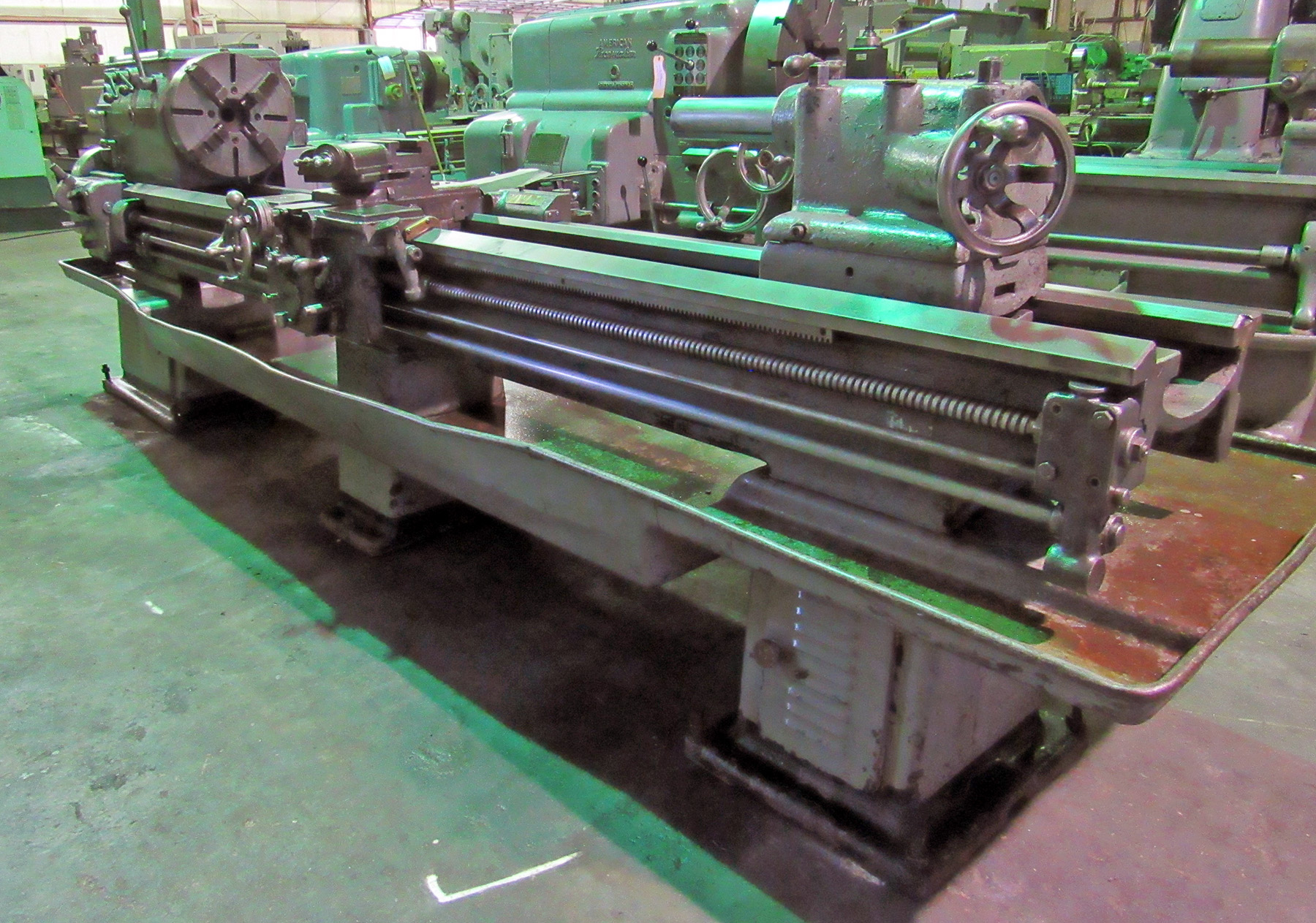 "USED, 18"" X 100"" LEBLOND ENGINE LATHE"