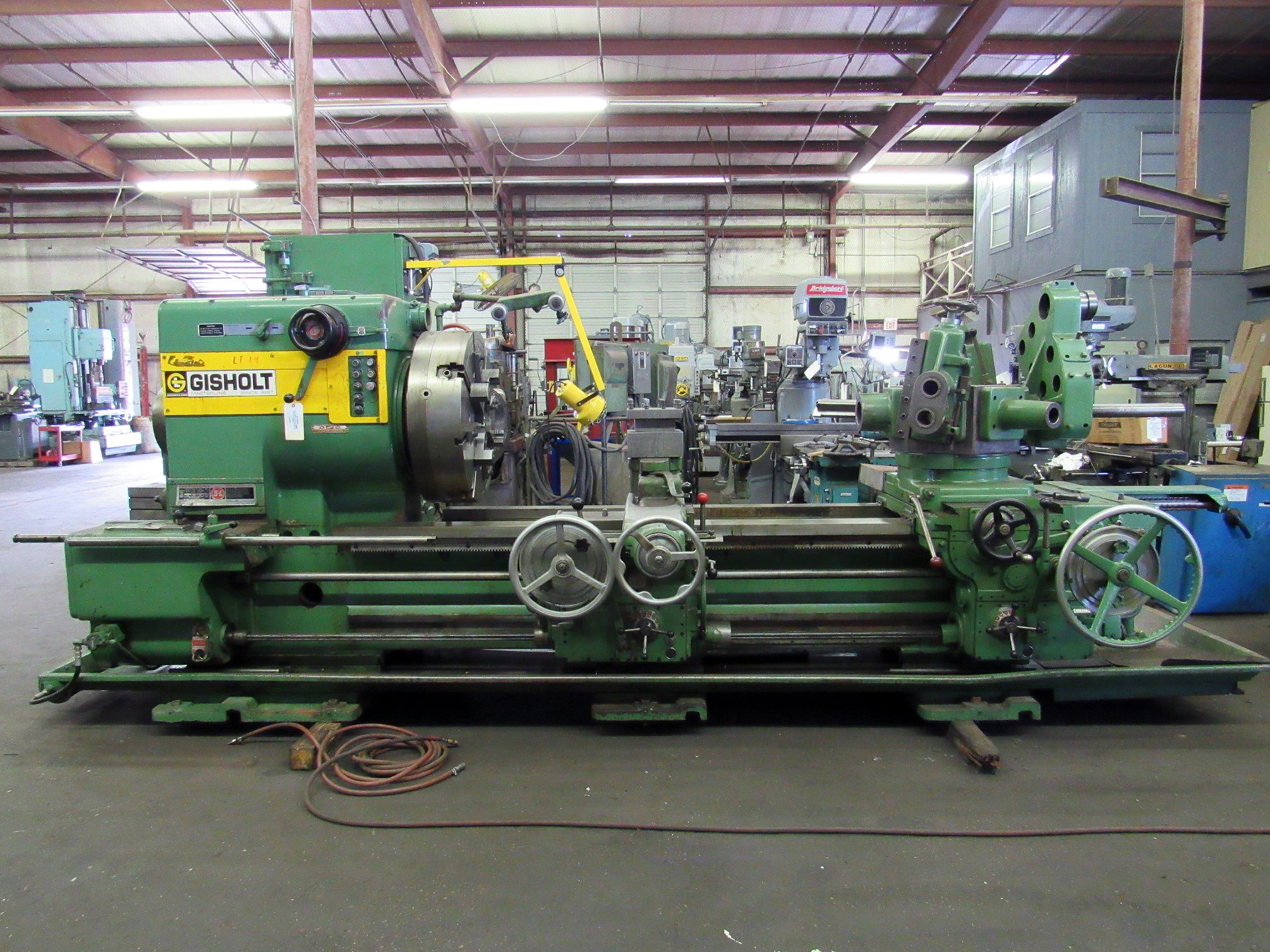 USED, GISHOLT (GIDDINGS & LEWIS) MODEL 5-L TURRET LATHE WITH CROSS SLIDING REAR TURRET