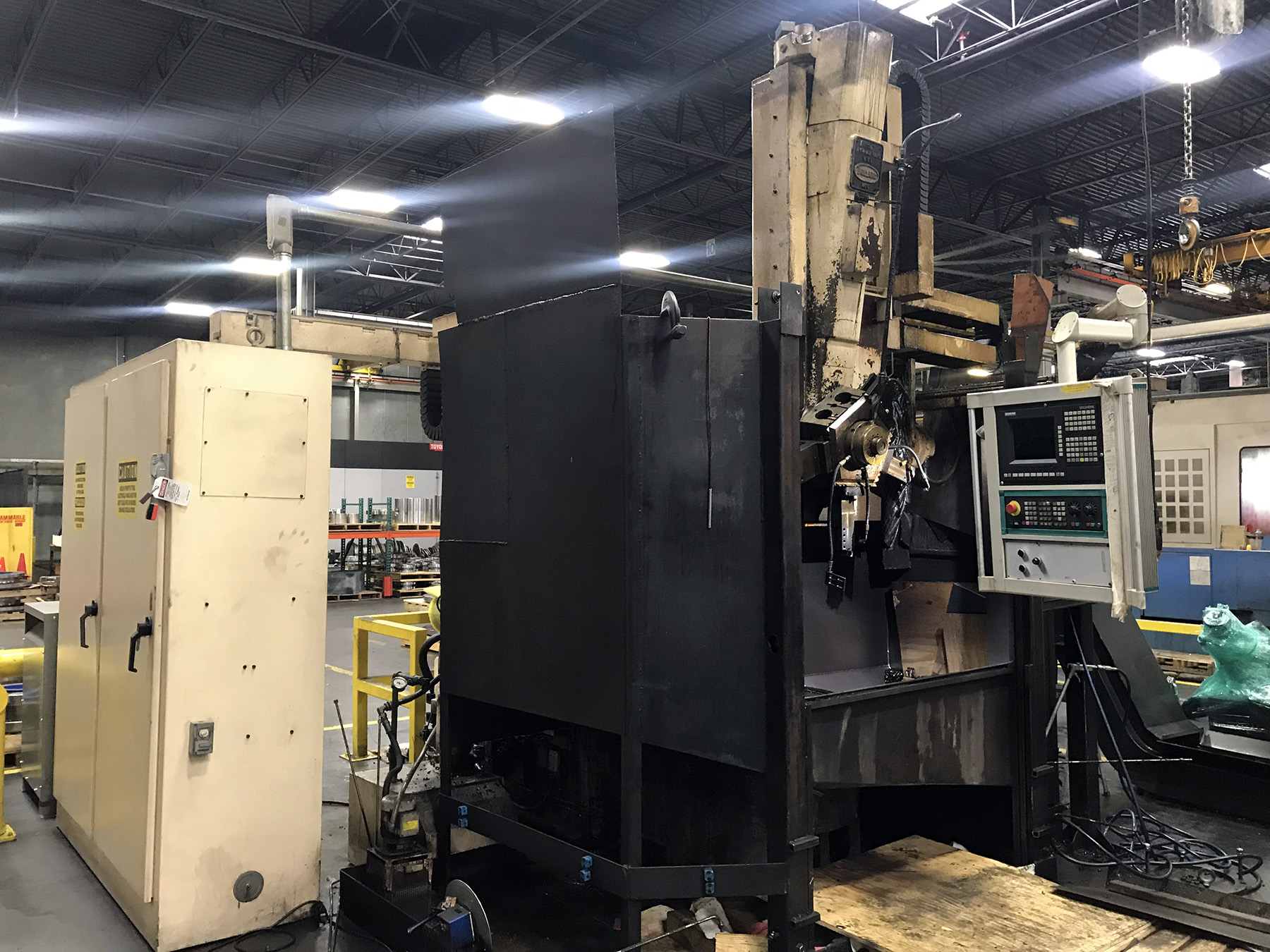 "USED, 36"" BULLARD DYN-AU-TAPE CNC VERTICAL BORING MILL"