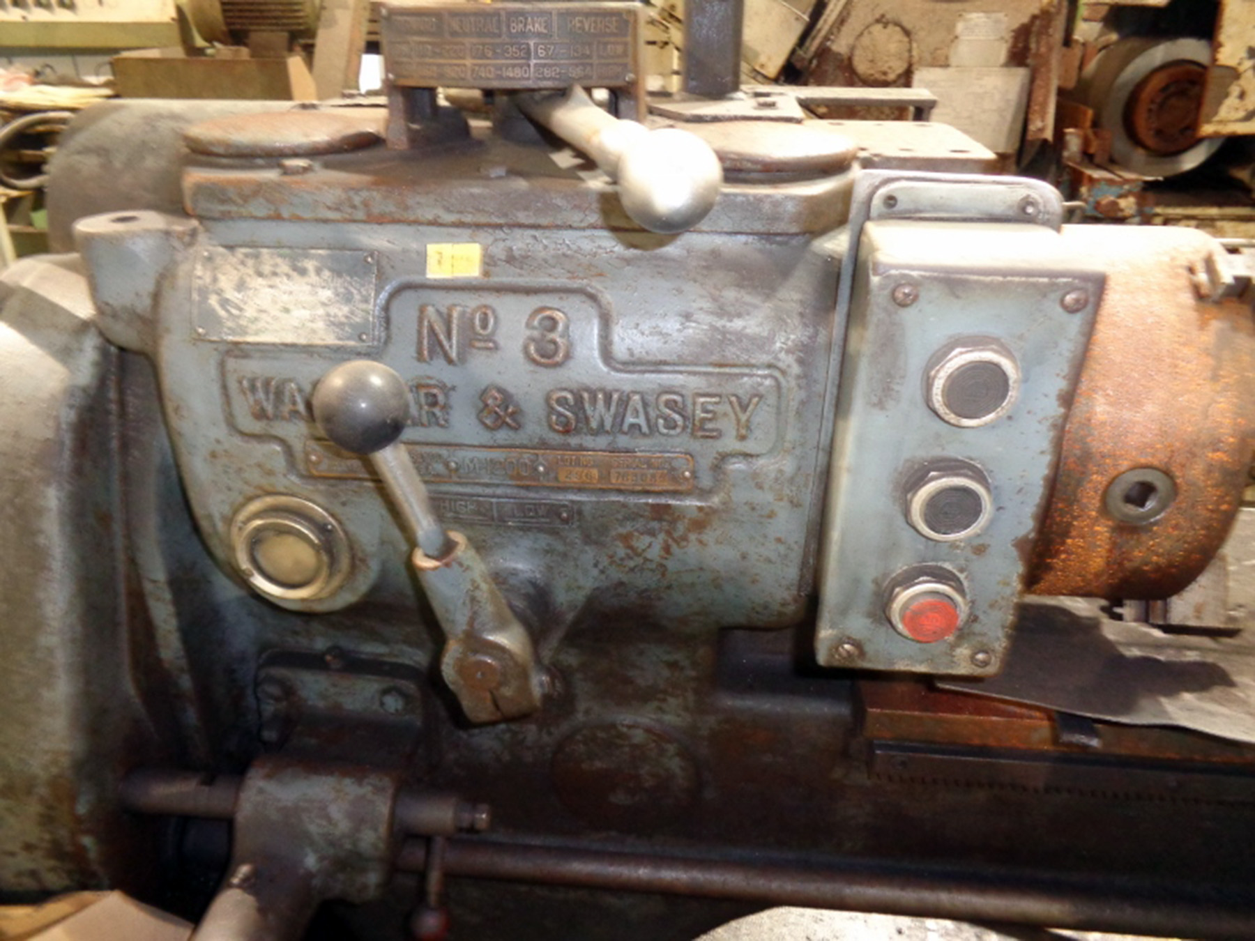 USED, WARNER & SWASEY NO. 3 TURRET LATHE