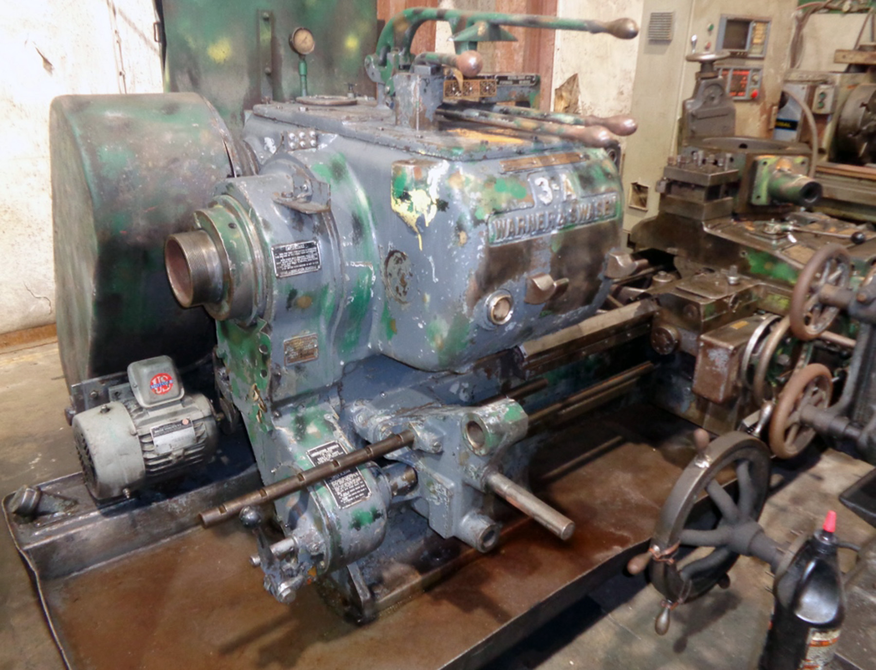 USED, WARNER & SWASEY 3A TURRET LATHE