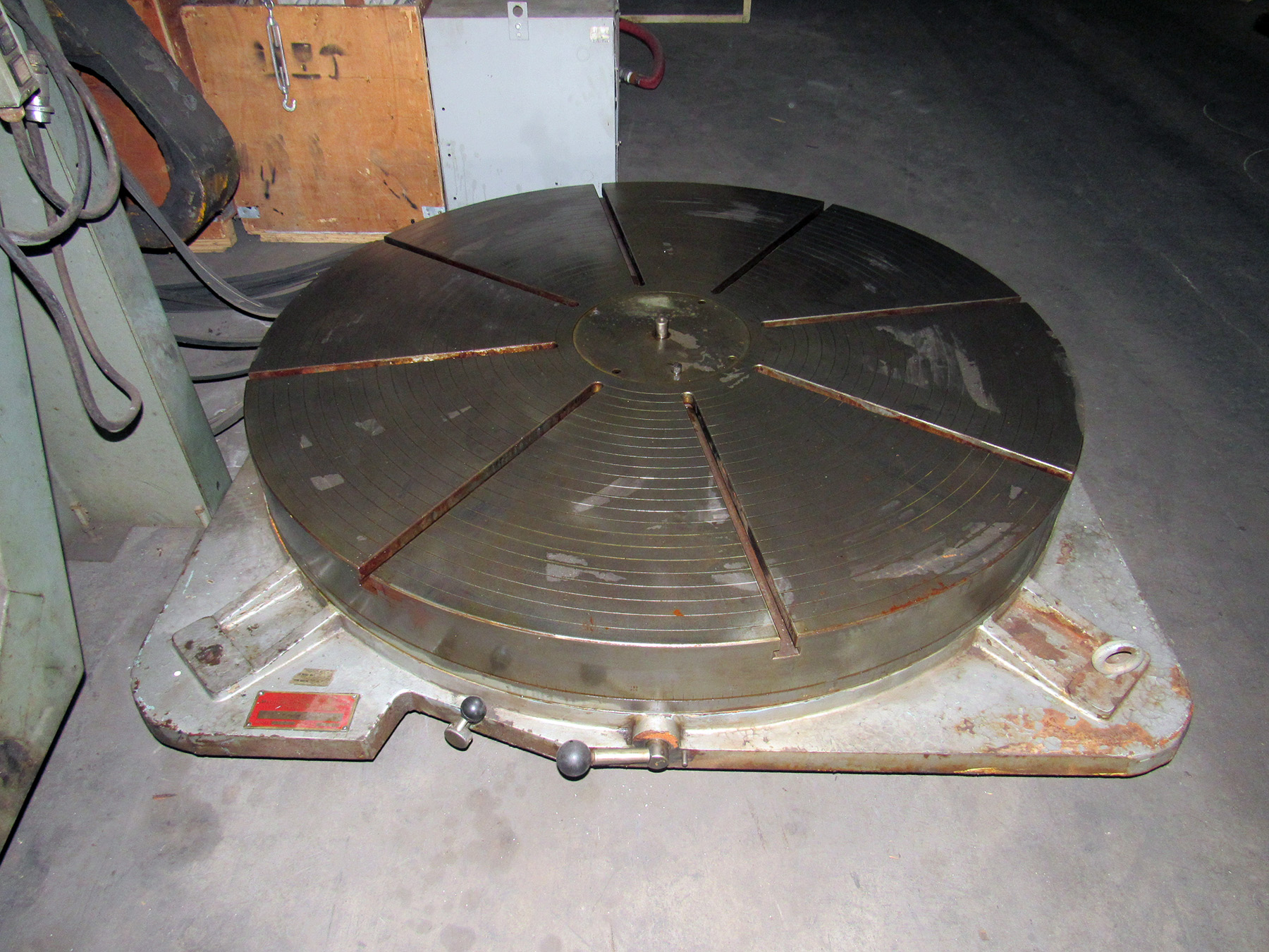 "USED, 60"" MACHINE PRODUCTS CORP. MODEL FW-60 ROTARY TABLE"