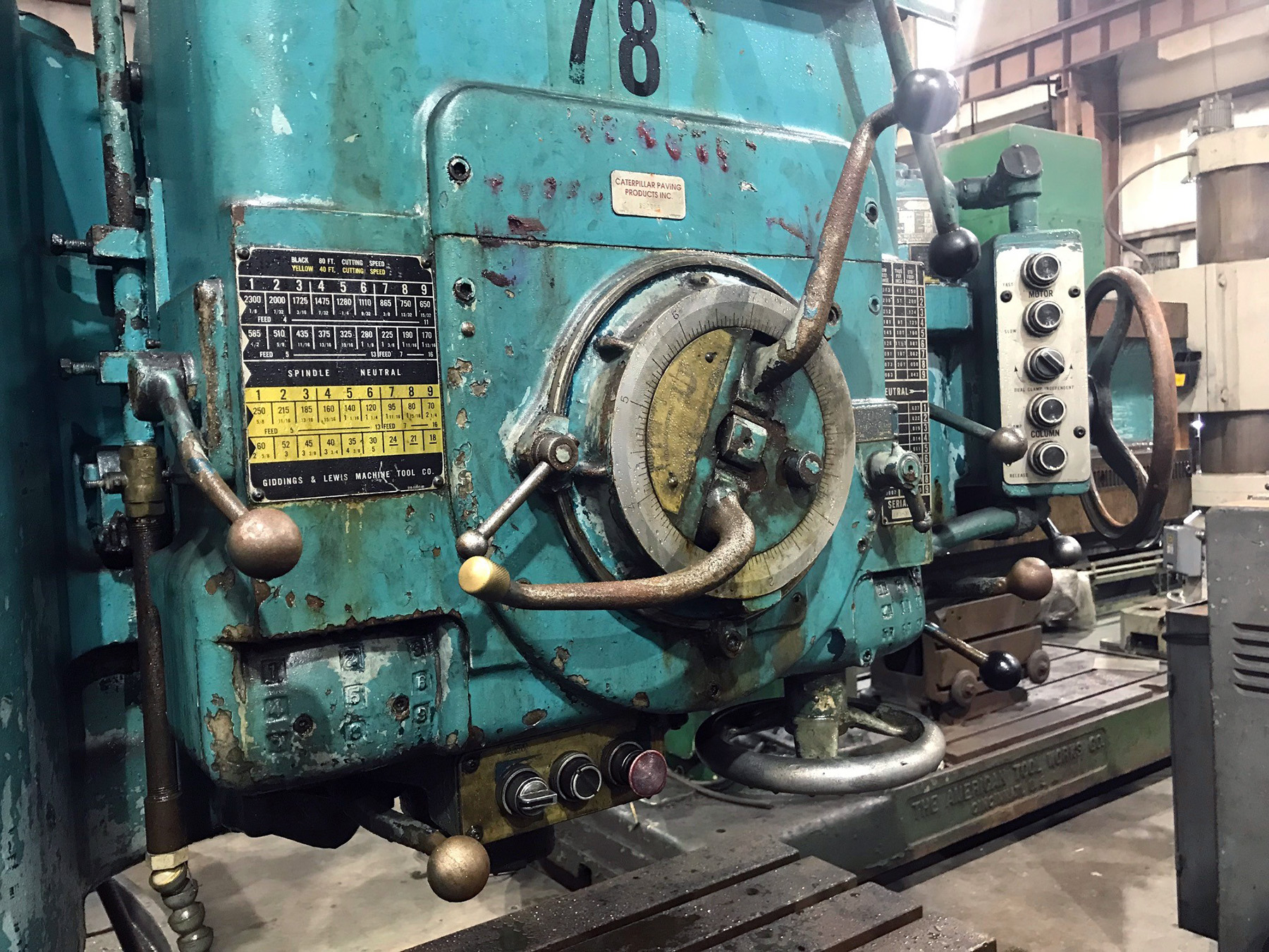 """USED, 4' 13"""" GIDDINGS & LEWIS BICKFORD CHIPMASTER RADIAL ARM DRILL"""