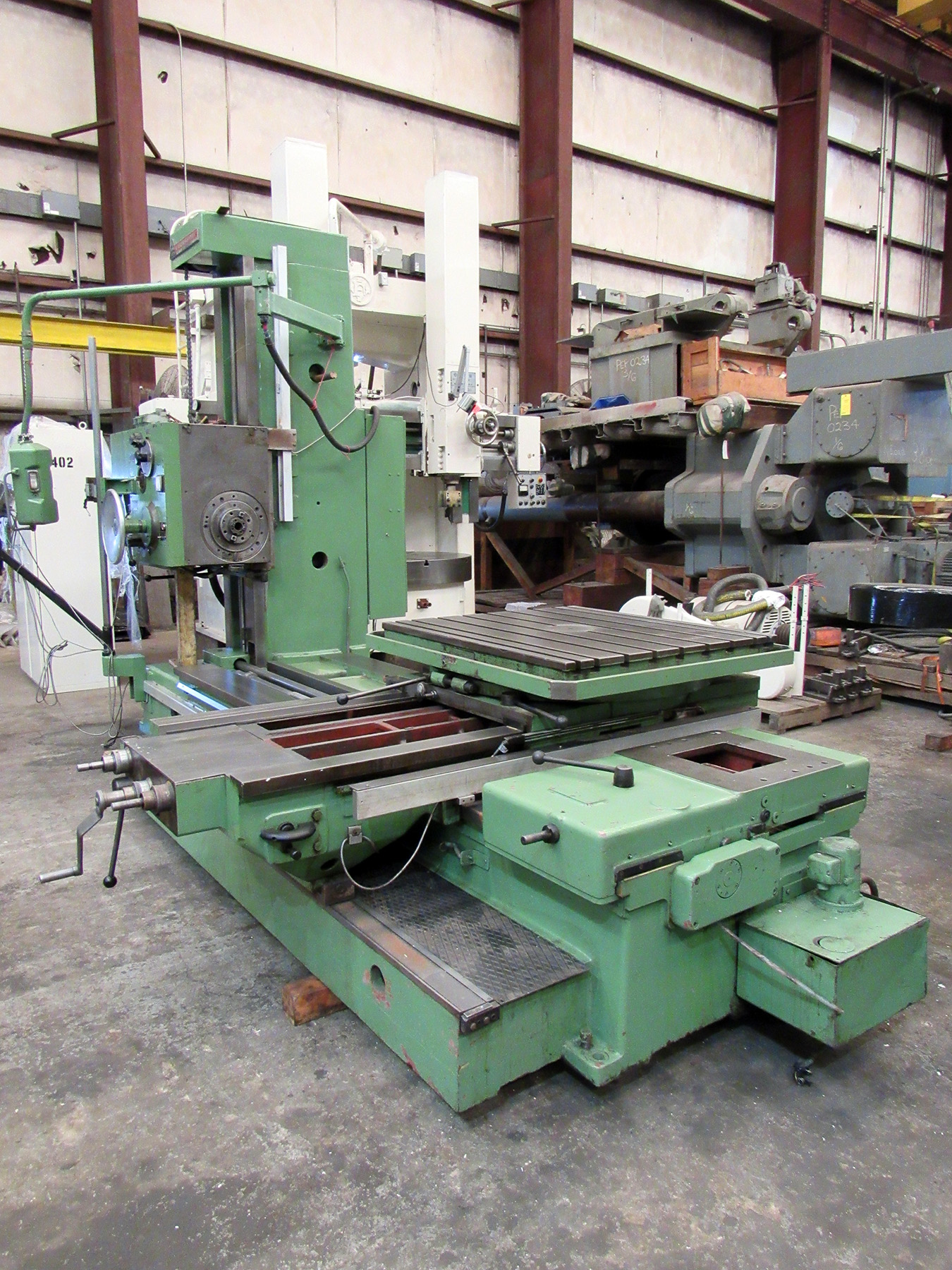 USED, TOS VARNSDORF W-9 TABLE TYPE HORIZONTAL BORING MILL