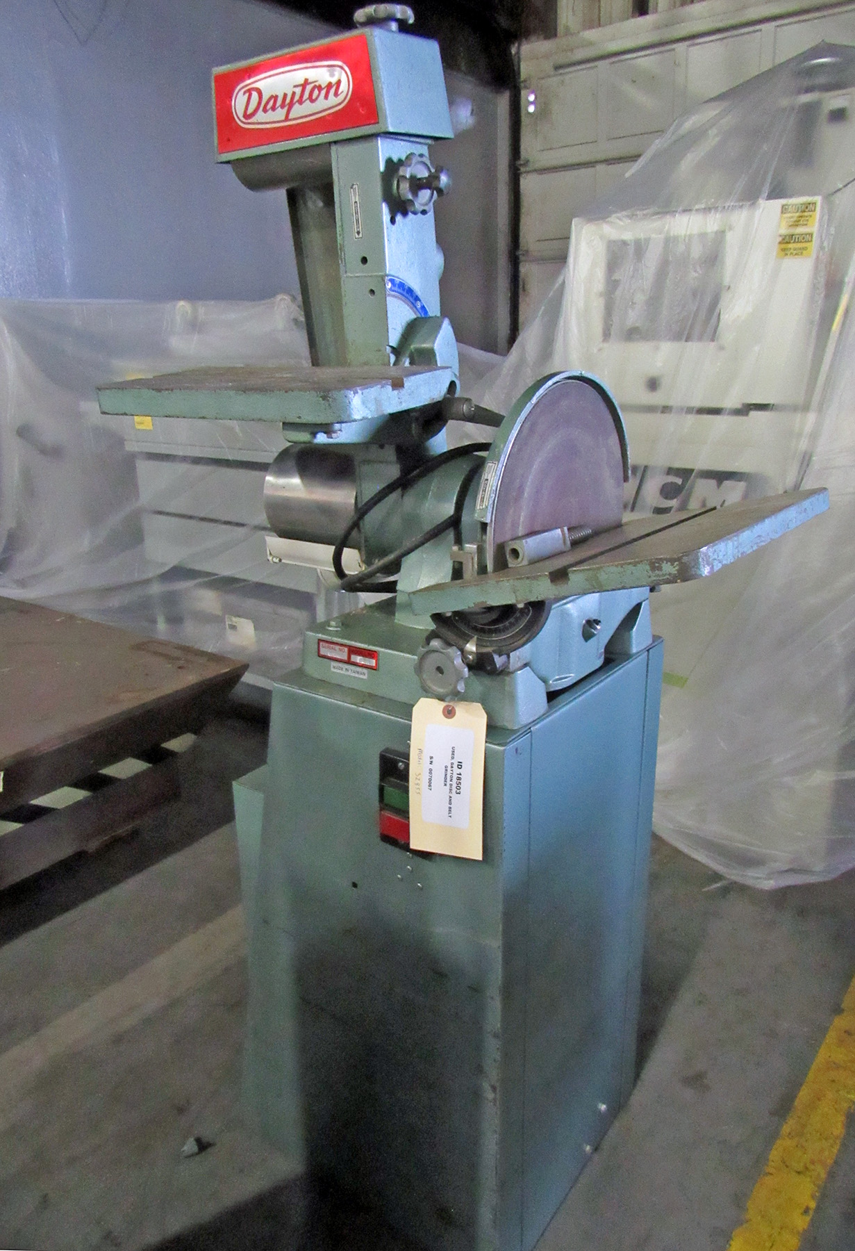 USED, DAYTON DISC AND BELT GRINDER