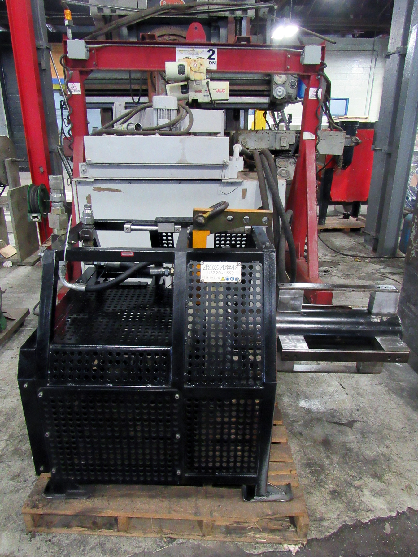 "USED, 12"" - 22"" PROTEM MODEL US-220-HSB PIPE BEVELING, FACING AND COUNTERBORING MACHINE"
