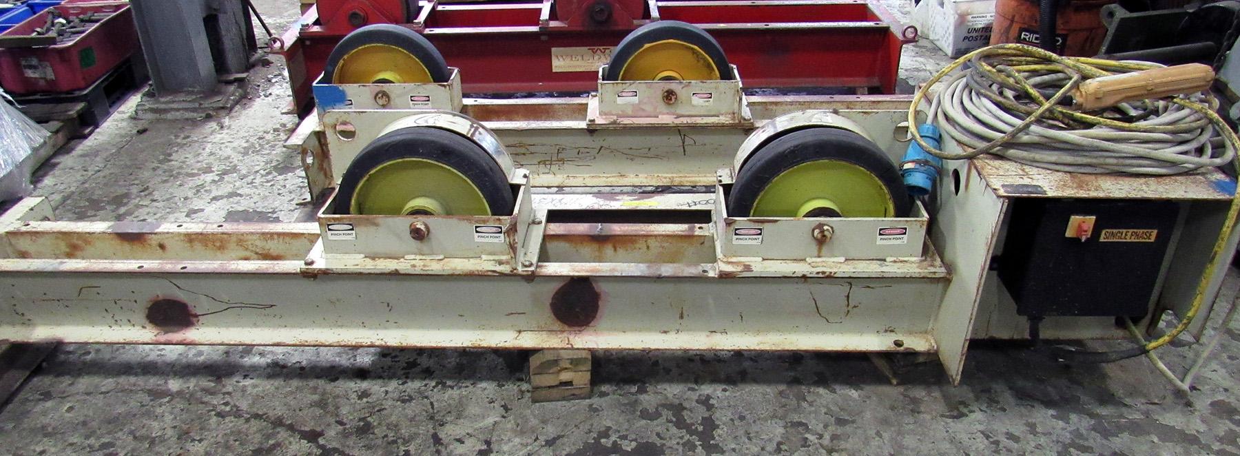 USED, 10 TON PANDJIRIS MODEL PR-30/10 WELDING TURNING ROLLS