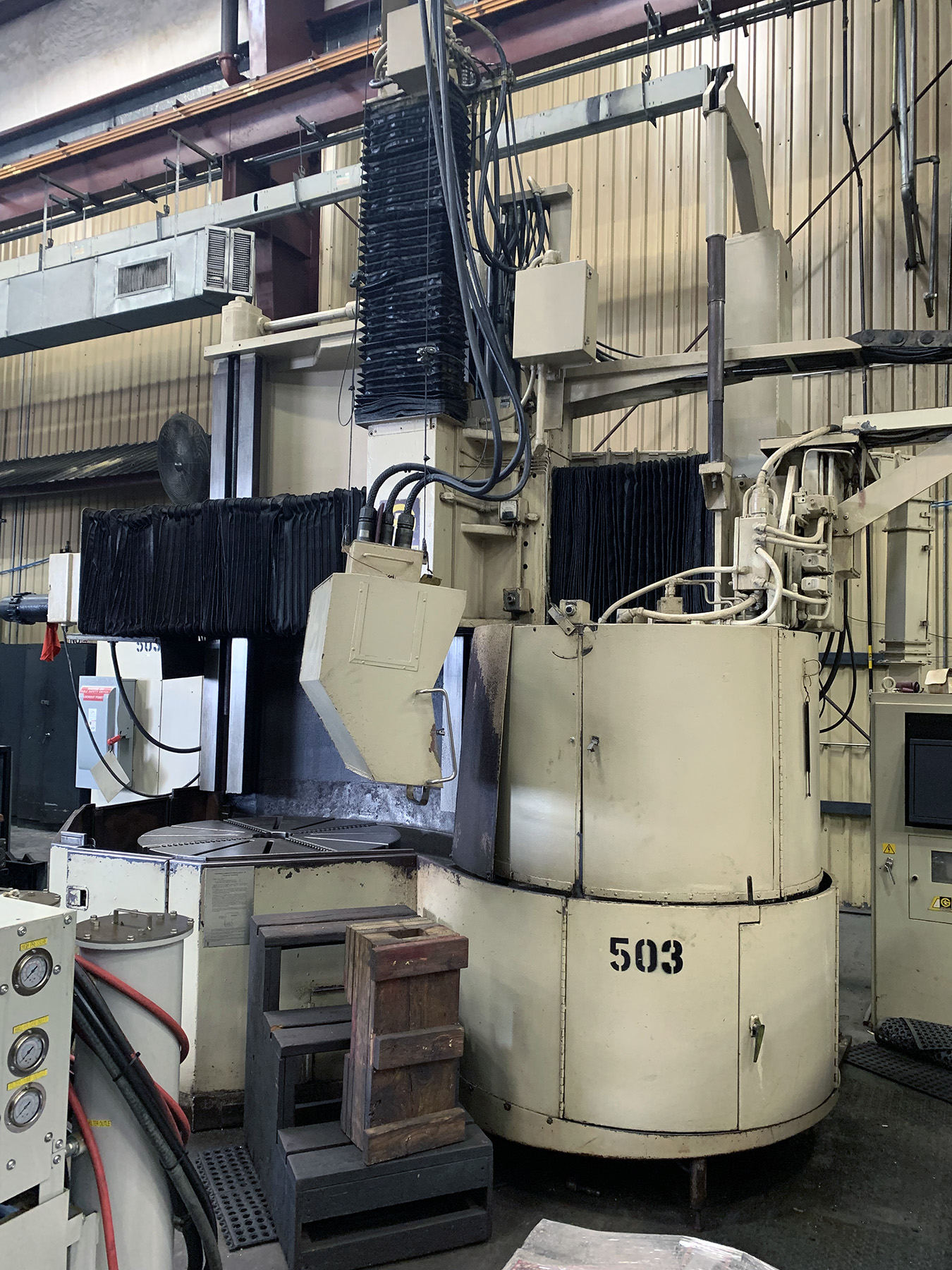 "USED, 48"" GIDDINGS & LEWIS MODEL VTC48 CNC VERTICAL TURNING CENTER"