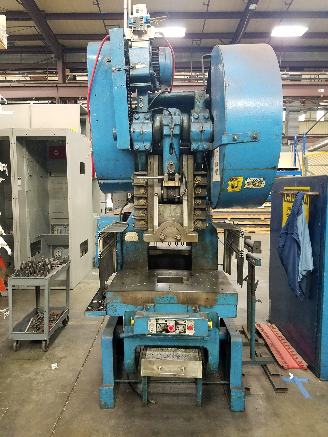 USED, 80 TON ROUSSELLE NO. 8 O.B.I. PUNCH PRESS