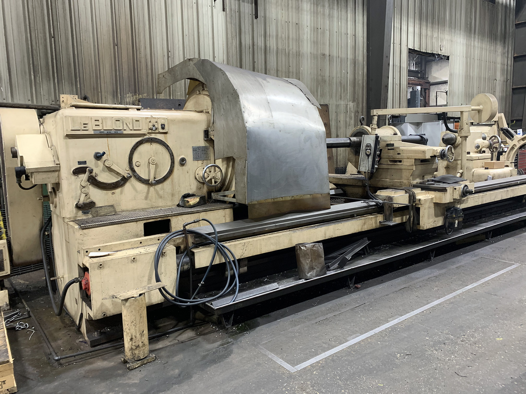 """USED, 66"""" X 216"""" LEBLOND WB 6642 WIDE BED HEAVY DUTY CNC LATHE"""