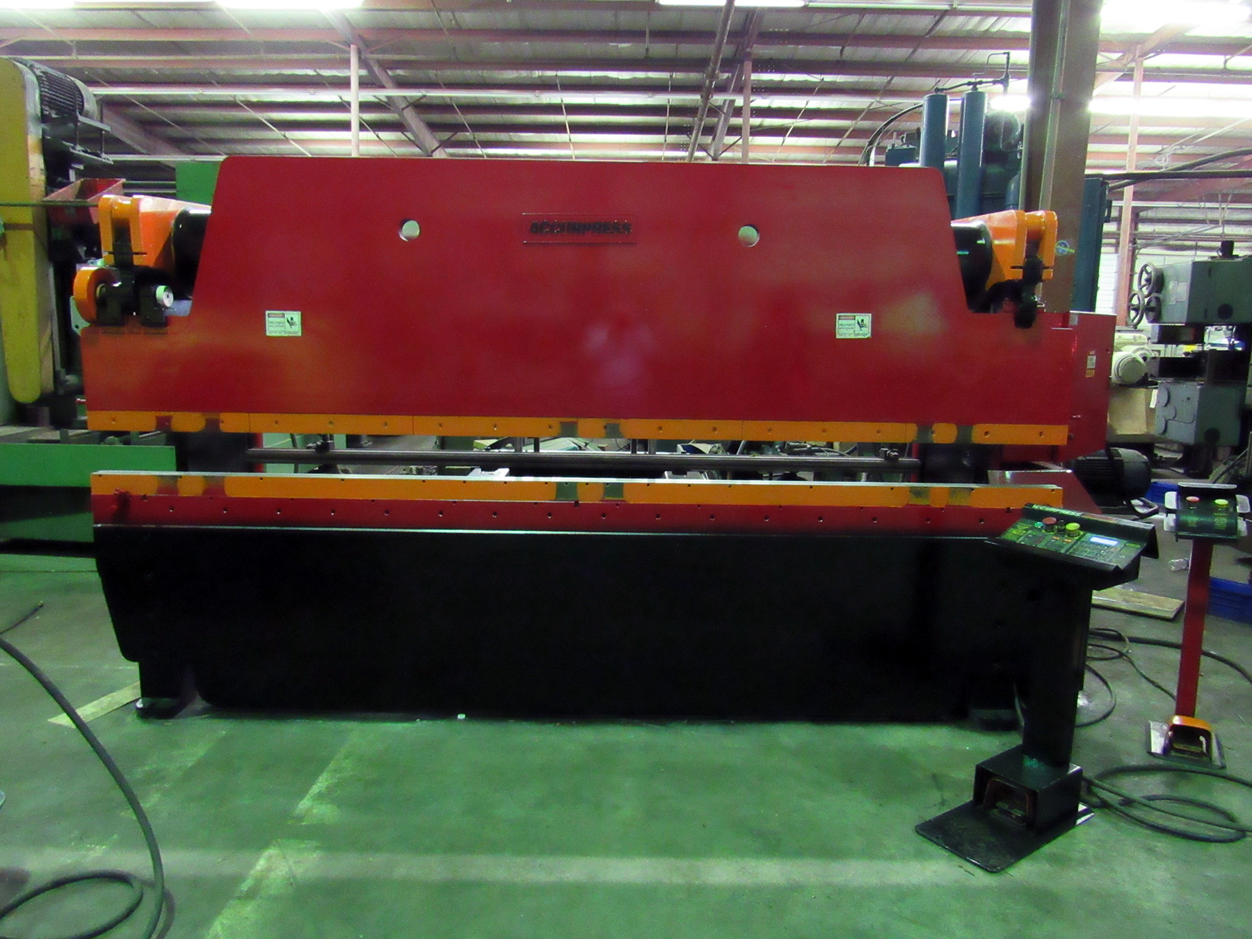 "USED, 100 TON X 144"" ACCURPRESS MODEL 710012 HYDRAULIC PRESS BRAKE"