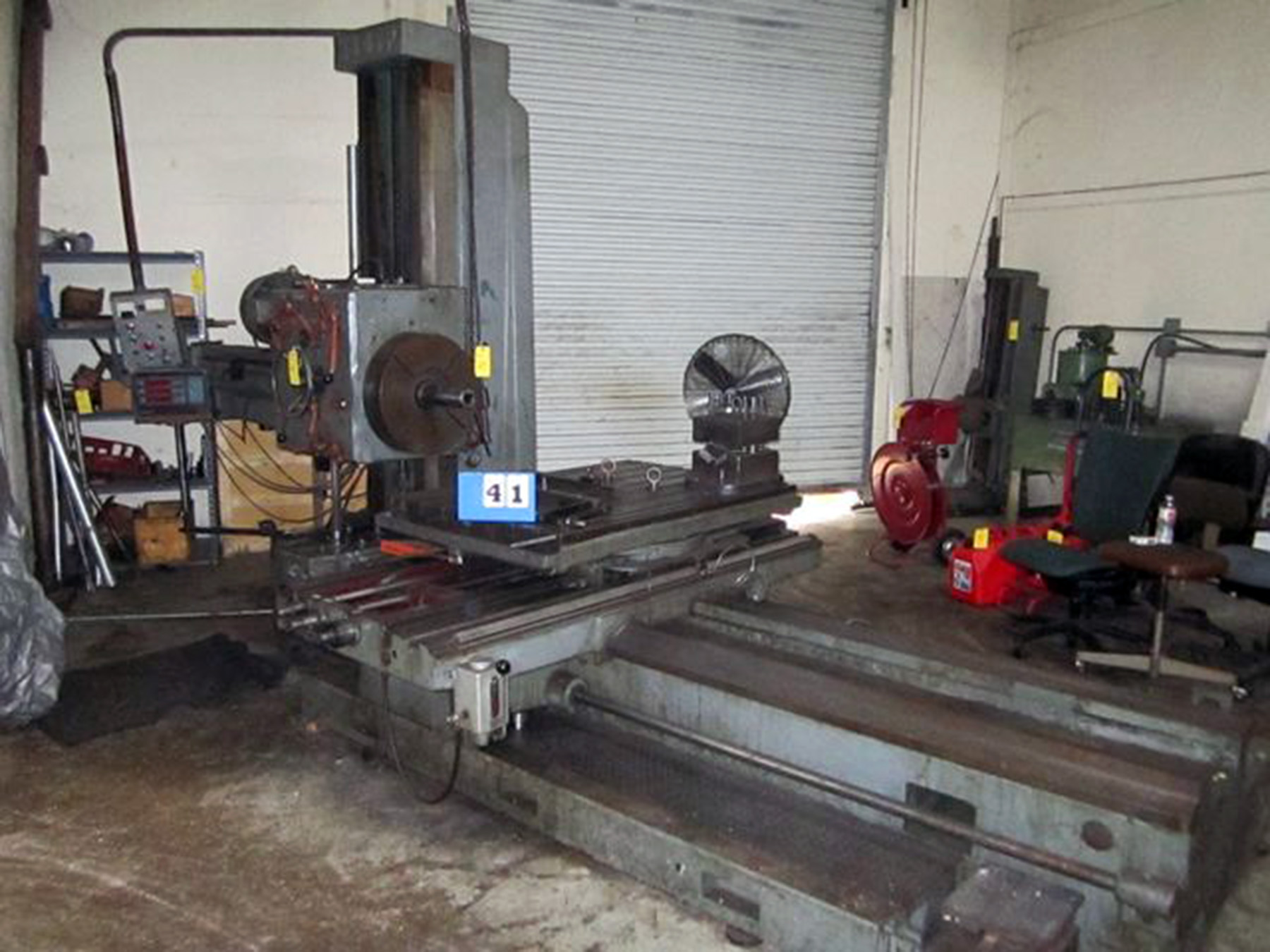 "USED, 3"" LAZZATI MODEL HB80P HORIZONTAL BORING MILL"