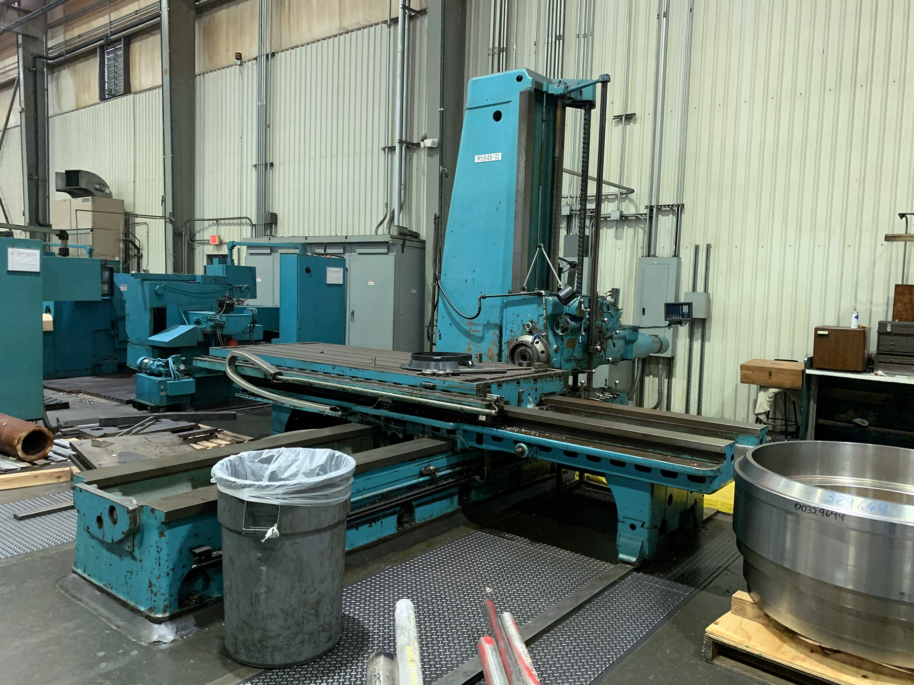 "USED, 5"" GIDDINGS & LEWIS MODEL 350-T TABLE TYPE HORIZONTAL BORING MILL"