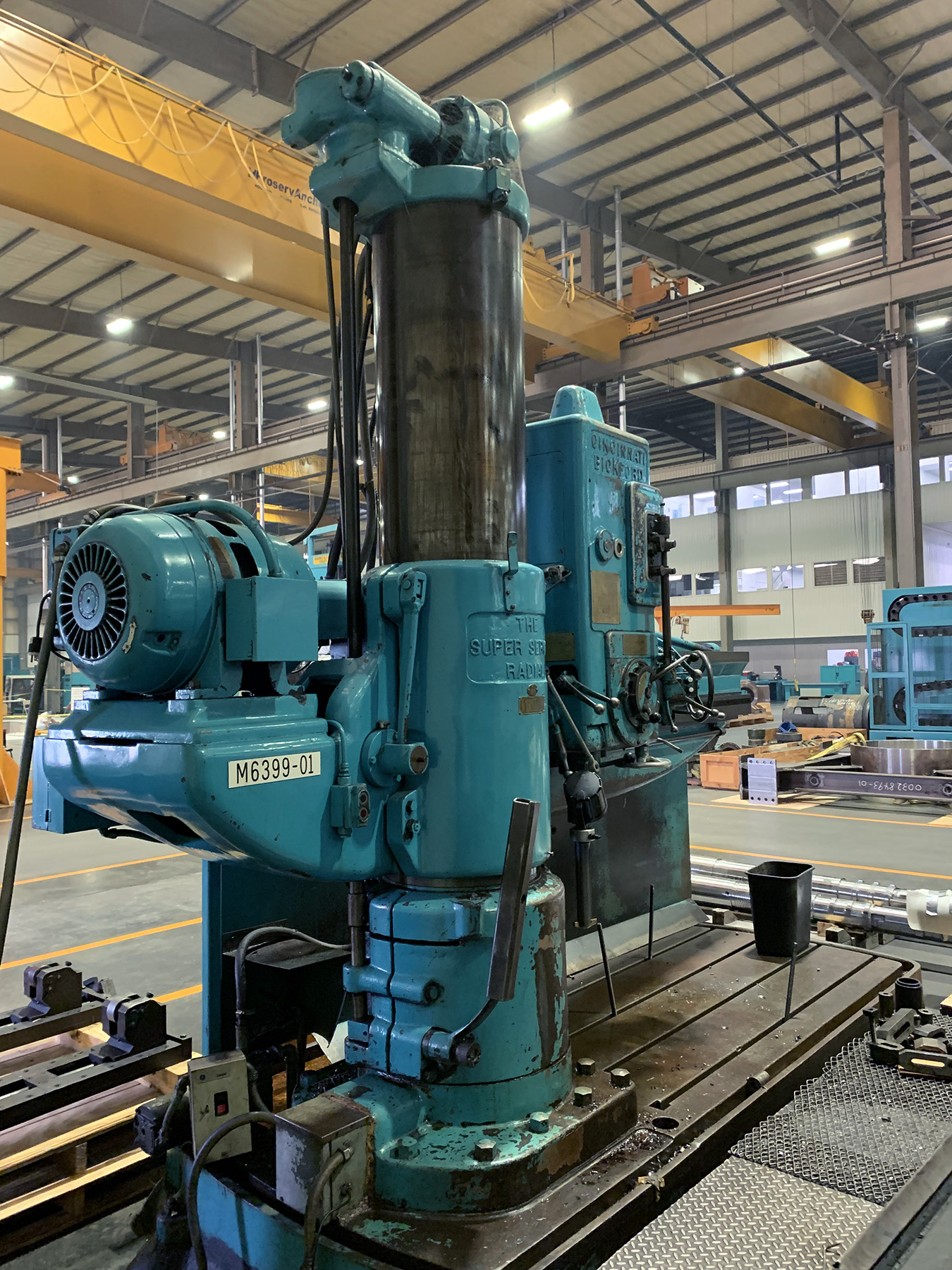 "USED, 8' 19"" CINCINNATI BICKFORD SUPER SERVICE RADIAL ARM DRILL"