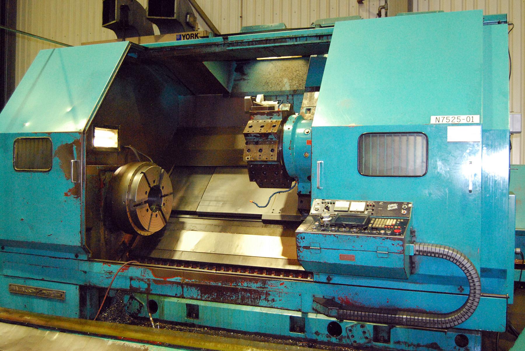USED, MAZAK SLANT TURN 60 UNIVERSAL 2000 CNC CHUCKER LATHE