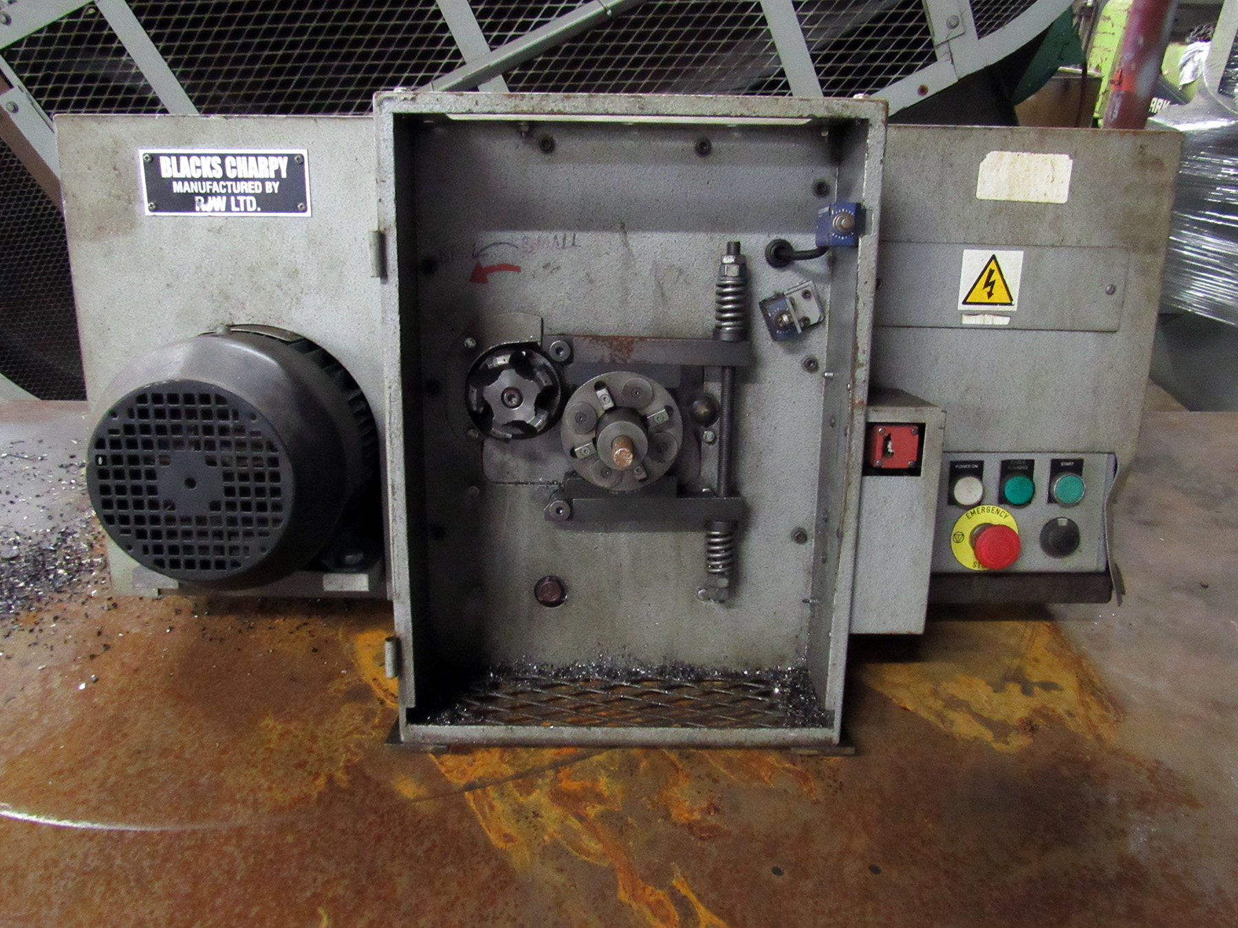 USED, BLACKS CHARPY MODEL CNM-158A1 FIXED SPEED CHARPY SPECIMEN MILLING MACHINE