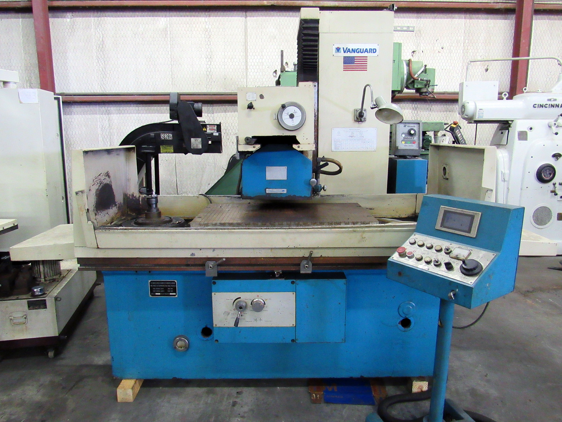 USED, VANGUARD MODEL M7160/CK-GM RECIPROCATING TABLE SURFACE GRINDER