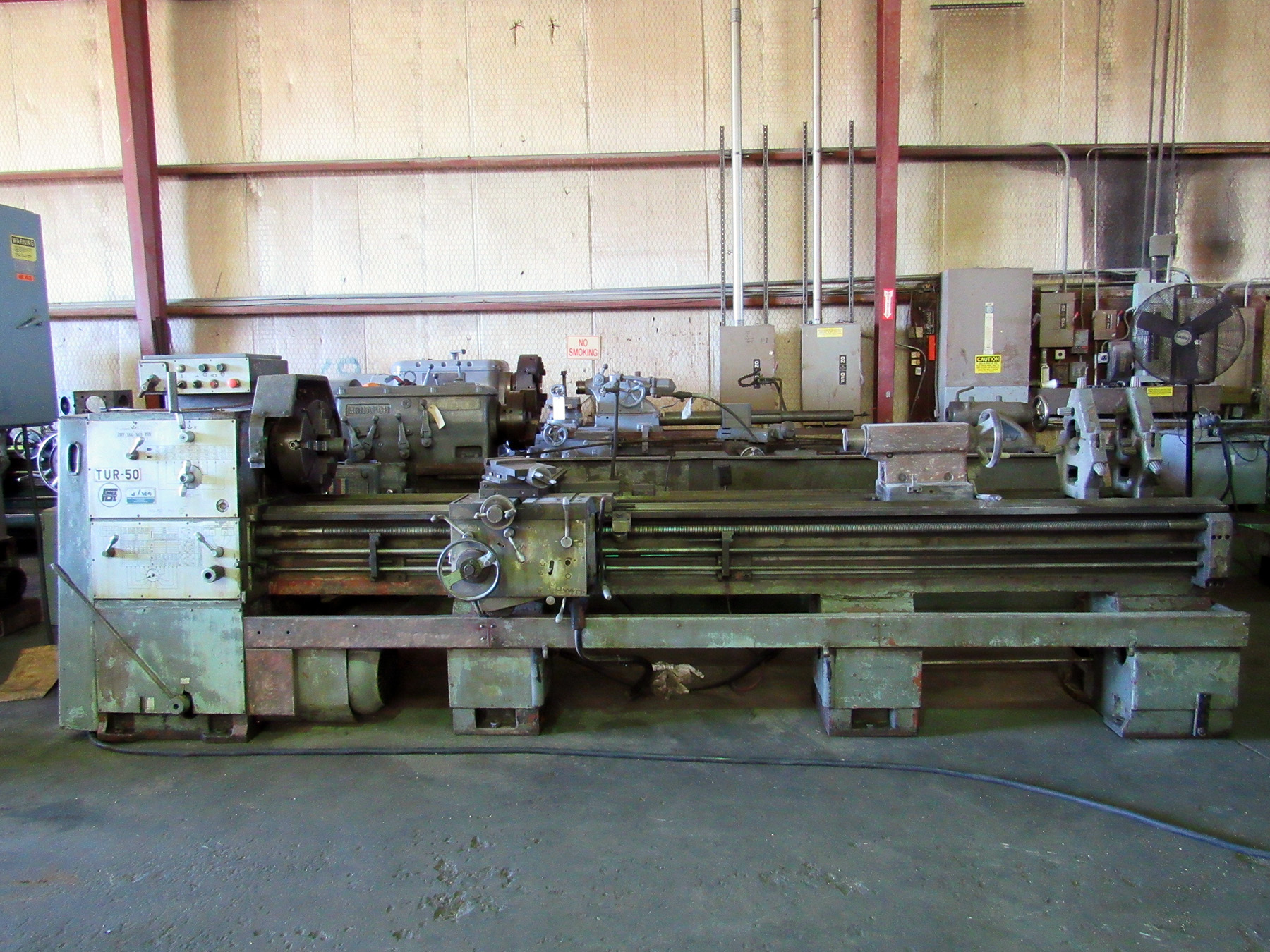 "USED, 20"" X 120"" POLAMCO TUR-50 ENGINE LATHE"