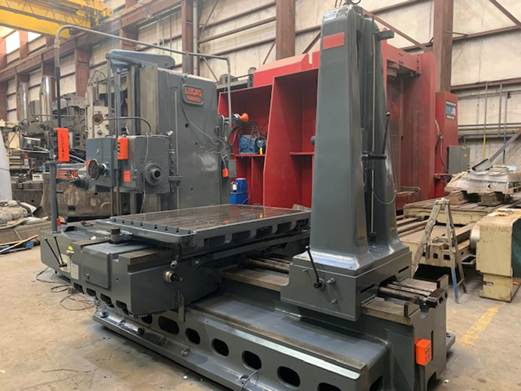 "USED, 5"" LUCAS MODEL 542B-60 TABLE TYPE HORIZONTAL BORING MILL"
