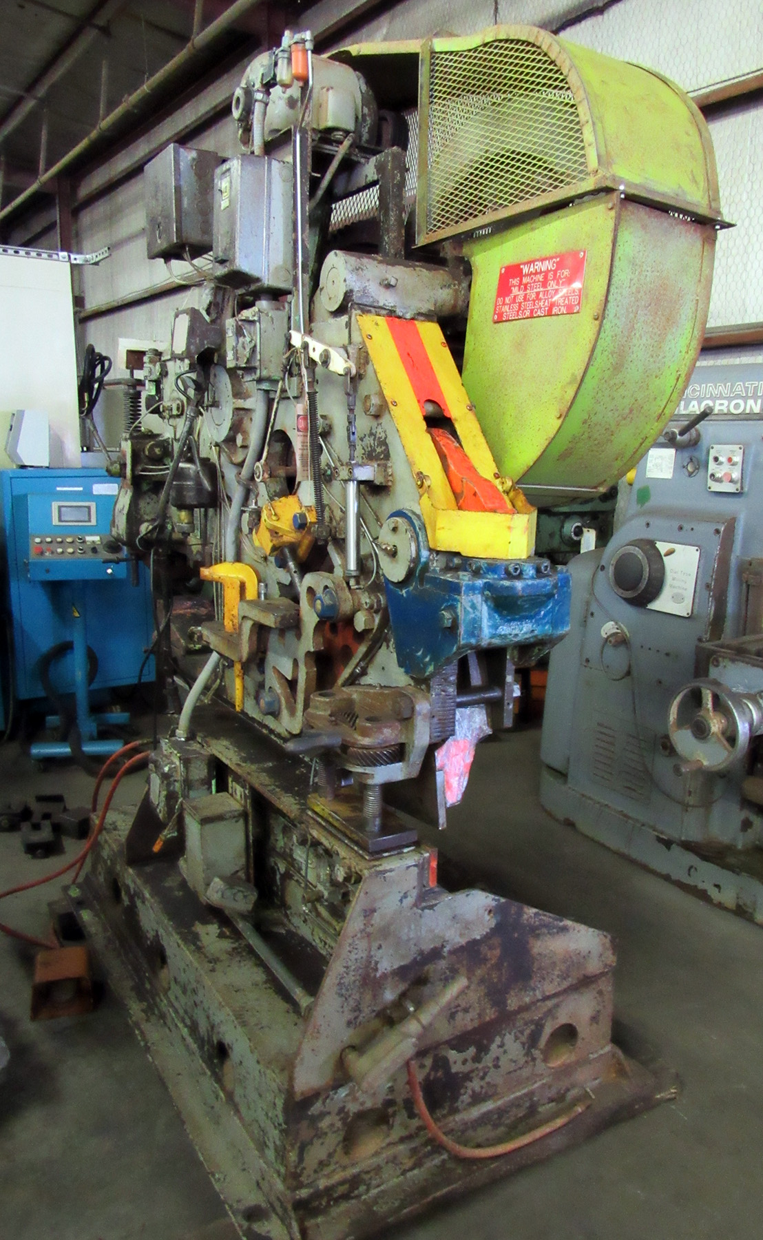 USED, BUFFALO NO. 1-1/2 MECHANICAL UNIVERSAL IRONWORKER