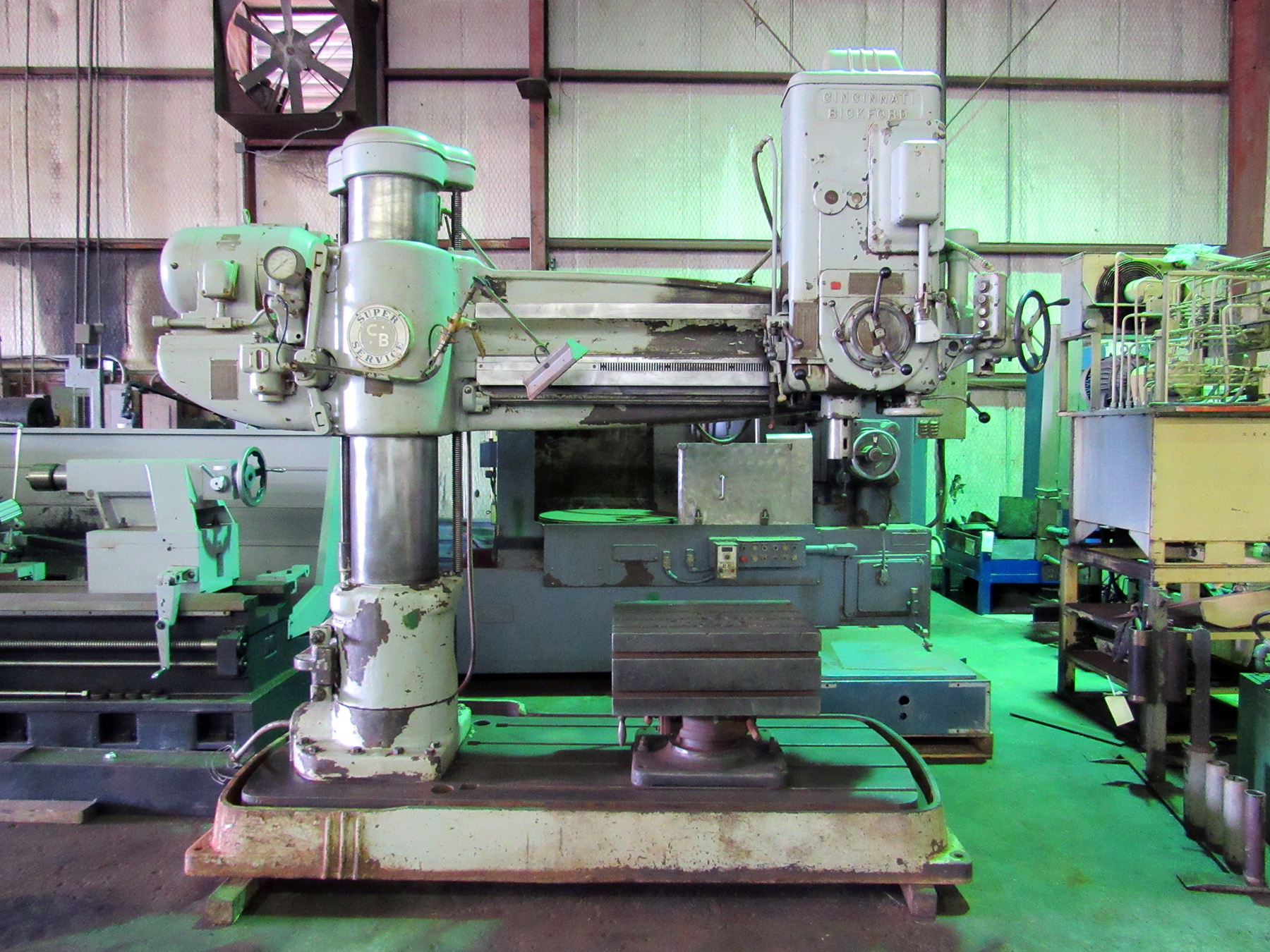 "USED, 4' 13"" CINCINNATI BICKFORD SUPER SERVICE RADIAL ARM DRILL"