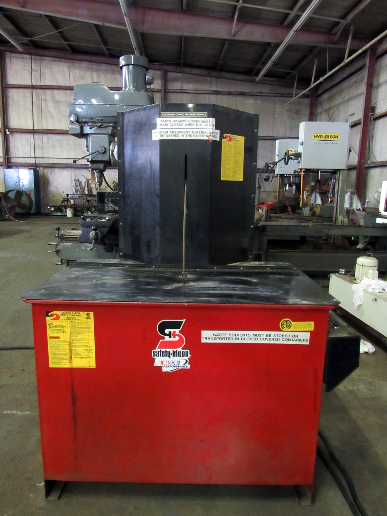USED, SAFETY-KLEEN MODEL 81 SOLVENT AGITATING PARTS WASHER