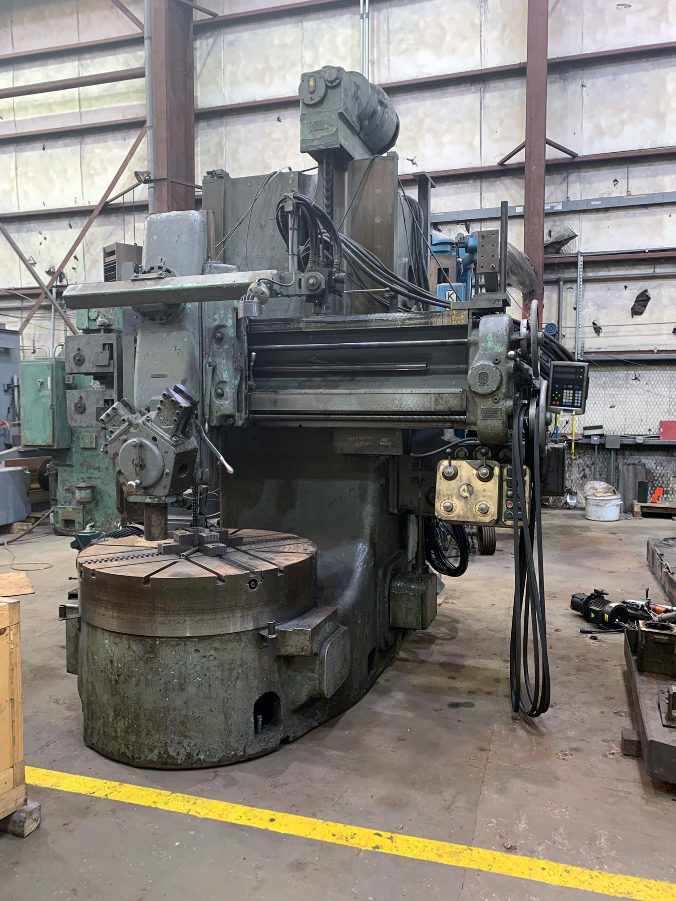 "USED, 48"" WEBSTER & BENNETT HIGH COLUMN VERTICAL TURRET LATHE"
