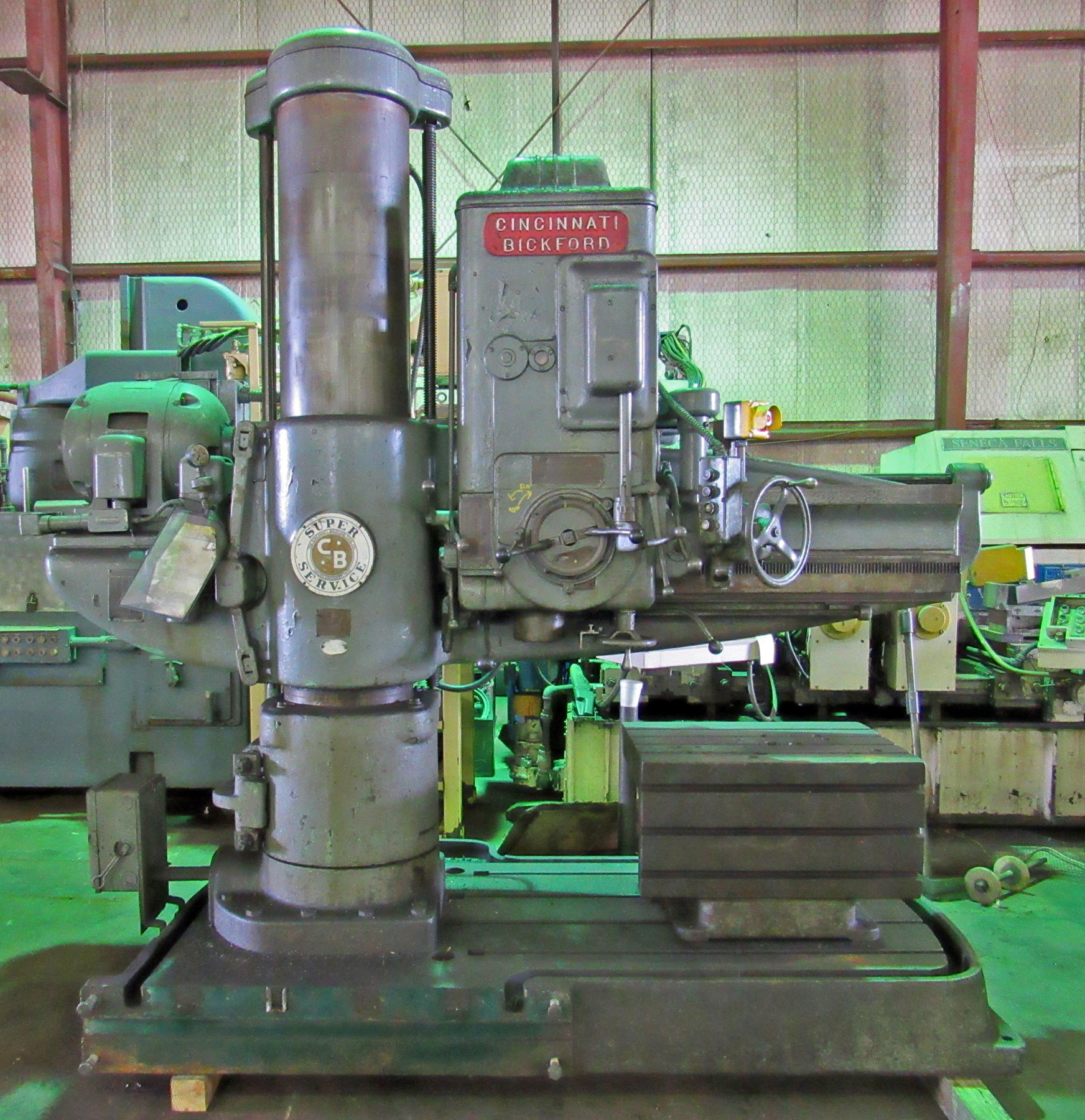 "USED, 4' 15"" CINCINNATI BICKFORD SUPER SERVICE RADIAL ARM DRILL"
