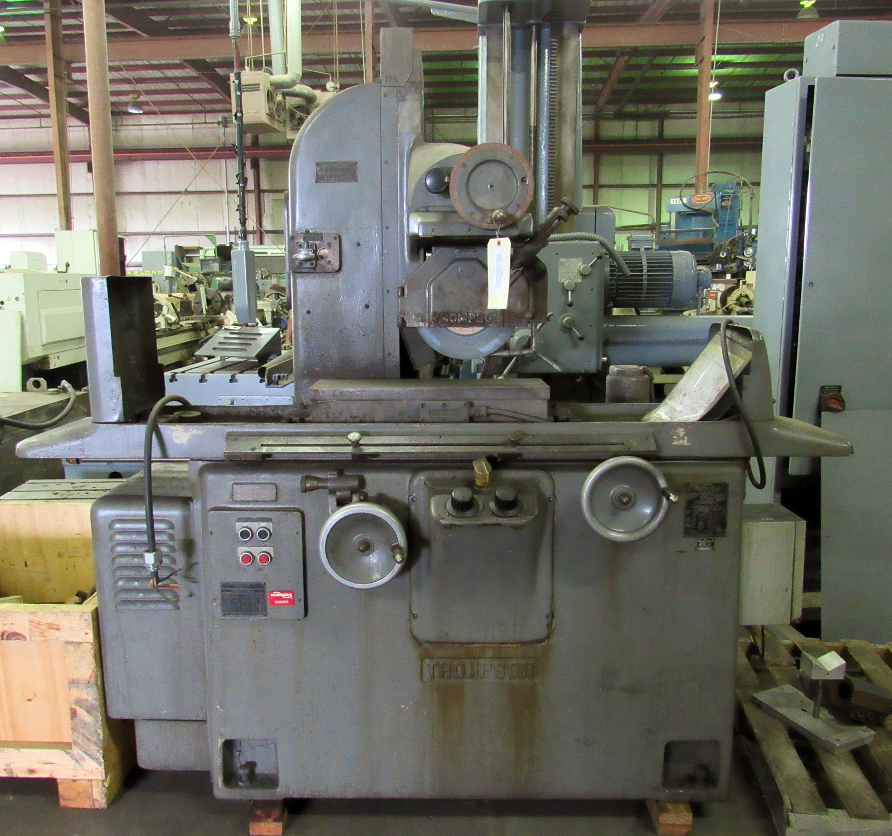 "USED, 8"" X 24"" THOMPSON MODEL 2F RECIPROCATING TABLE SURFACE GRINDER"