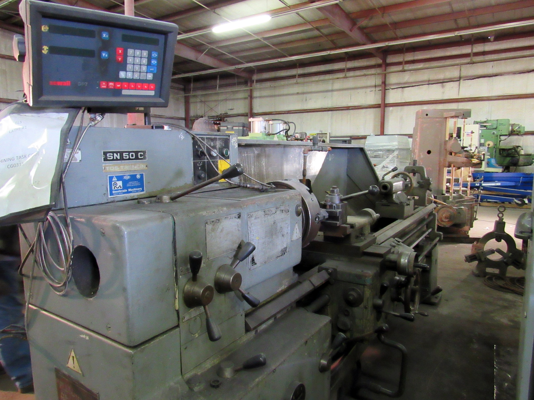 "USED, 20"" X 80"" TOS MODEL SN 50 C ENGINE LATHE"