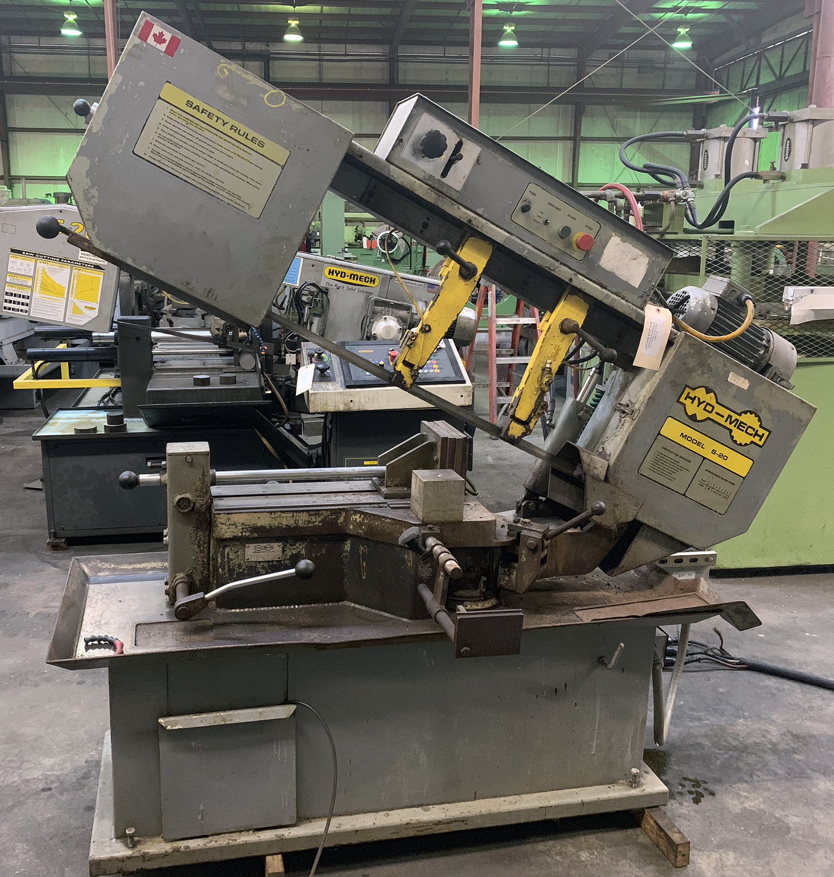 USED, HYD-MECH S-20 HORIZONTAL BANDSAW