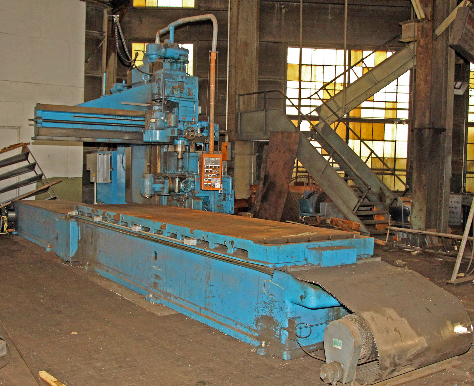 "USED, 30 HP FUTURMILL 185"" X 50"" TABLE OPENSIDE PLANER MILL"