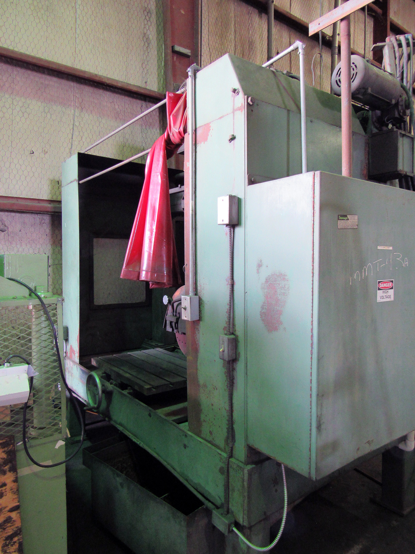 USED, SAVAGE 30 HP MODEL WJS-20 WET TYPE ABRASIVE CUT-OFF SAW